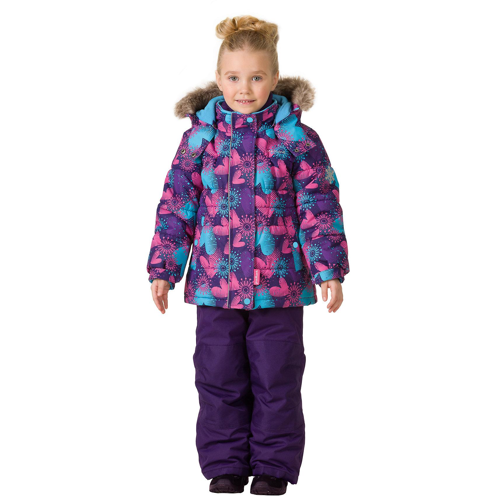 Комплект: куртка и брюки Premont для девочкиВерхняя одежда<br>Характеристики товара:<br><br>• цвет: фиолетовый<br>• комплектация: куртка и брюки<br>• состав ткани: Taslan<br>• подкладка: Polar fleece, Taffeta<br>• утеплитель: Tech-polyfill<br>• сезон: зима<br>• мембранное покрытие<br>• температурный режим: от -30 до +5<br>• водонепроницаемость: 5000 мм <br>• паропроницаемость: 5000 г/м2<br>• плотность утеплителя: куртка - 280 г/м2, брюки - 180 г/м2<br>• капюшон: съемный<br>• искусственный мех на капюшоне отстегивается<br>• застежка: молния<br>• страна бренда: Канада<br>• страна изготовитель: Китай<br><br>Теплый зимний детский комплект сделан с применением мембранной технологии. Мягкая подкладка комплекта для детей делает его теплым и комфортным. Зимний комплект для ребенка - это куртка с капюшоном и брюки. Детский теплый комплект дополнен светоотражающими элементами, лямками, планкой от ветра и карманами на липучках. <br><br>Комплект: куртка и брюки для девочки Premont (Премонт) можно купить в нашем интернет-магазине.<br><br>Ширина мм: 356<br>Глубина мм: 10<br>Высота мм: 245<br>Вес г: 519<br>Цвет: фиолетовый<br>Возраст от месяцев: 156<br>Возраст до месяцев: 168<br>Пол: Женский<br>Возраст: Детский<br>Размер: 164,92,98,100,104,110,116,120,122,128,140,152<br>SKU: 7088112
