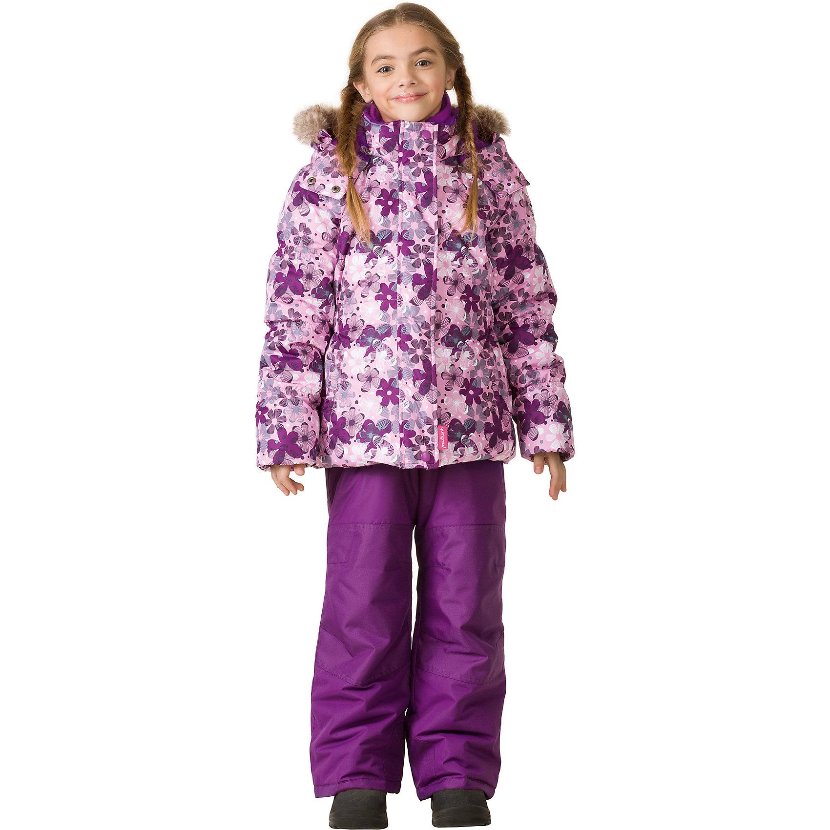 Комплект: куртка и брюки Premont для девочкиВерхняя одежда<br>Характеристики товара:<br><br>• цвет: сиреневый<br>• комплектация: куртка и брюки<br>• состав ткани: Taslan<br>• подкладка: Polar fleece, Taffeta<br>• утеплитель: Tech-polyfill<br>• сезон: зима<br>• мембранное покрытие<br>• температурный режим: от -30 до +5<br>• водонепроницаемость: 5000 мм <br>• паропроницаемость: 5000 г/м2<br>• плотность утеплителя: куртка - 280 г/м2, брюки - 180 г/м2<br>• капюшон: съемный<br>• искусственный мех на капюшоне отстегивается<br>• застежка: молния<br>• страна бренда: Канада<br>• страна изготовитель: Китай<br><br>Такой теплый комплект дополнен светоотражающими элементами, лямками, планкой от ветра и карманами на липучках. Теплый зимний детский комплект сделан с применением мембранной технологии. Мягкая подкладка комплекта для детей делает его теплым и комфортным. Зимний комплект для ребенка - это куртка с капюшоном и брюки. <br><br>Комплект: куртка и брюки для девочки Premont (Премонт) можно купить в нашем интернет-магазине.<br><br>Ширина мм: 356<br>Глубина мм: 10<br>Высота мм: 245<br>Вес г: 519<br>Цвет: розовый<br>Возраст от месяцев: 156<br>Возраст до месяцев: 168<br>Пол: Женский<br>Возраст: Детский<br>Размер: 164,92,98,100,104,110,116,120,122,128,140,152<br>SKU: 7088151