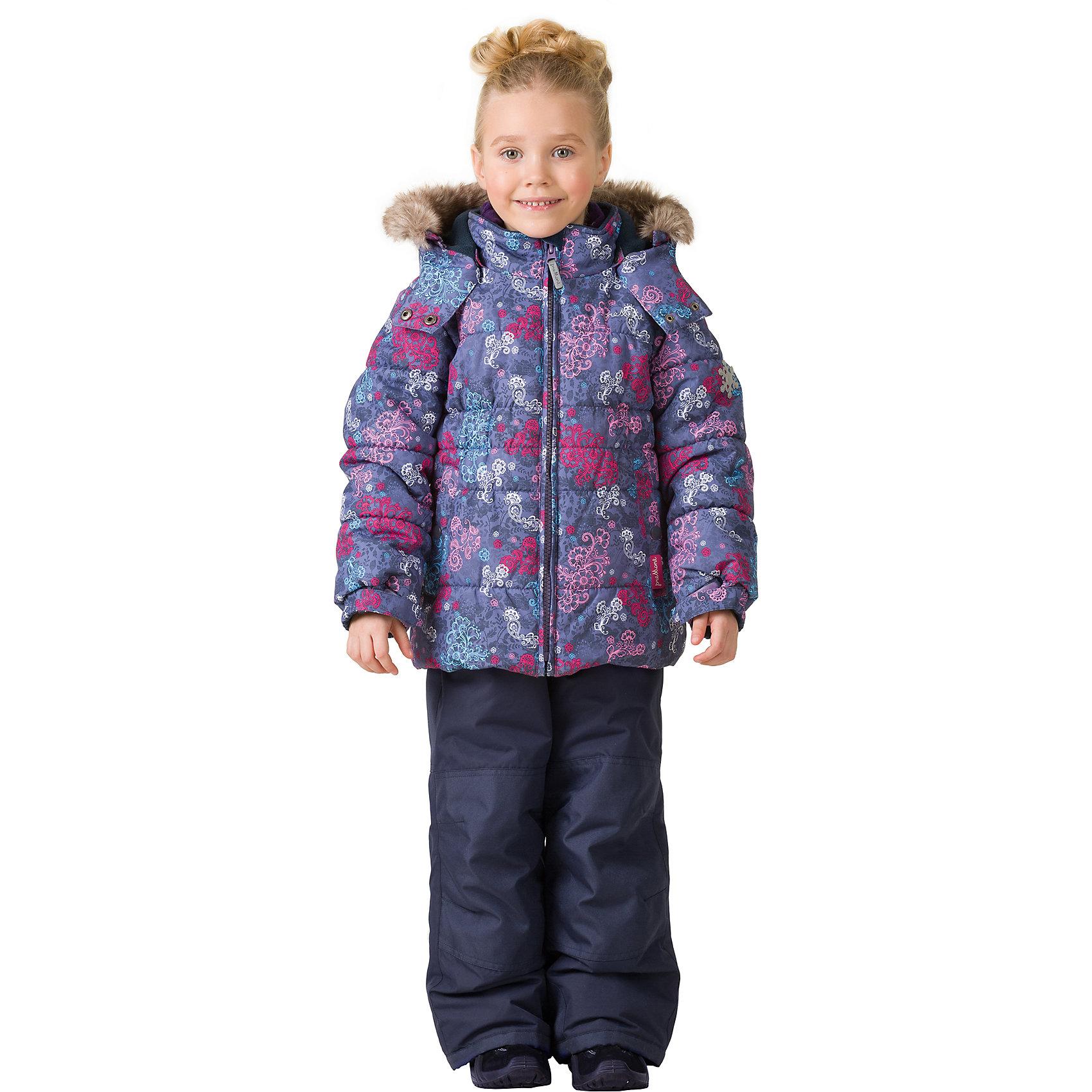 Комплект: куртка и брюки Premont для девочкиВерхняя одежда<br>Характеристики товара:<br><br>• цвет: фиолетовый<br>• комплектация: куртка и брюки<br>• состав ткани: Taslan<br>• подкладка: Polar fleece, Taffeta<br>• утеплитель: Tech-polyfill<br>• сезон: зима<br>• мембранное покрытие<br>• температурный режим: от -30 до +5<br>• водонепроницаемость: 5000 мм <br>• паропроницаемость: 5000 г/м2<br>• плотность утеплителя: куртка - 280 г/м2, брюки - 180 г/м2<br>• капюшон: съемный<br>• искусственный мех на капюшоне отстегивается<br>• застежка: молния<br>• страна бренда: Канада<br>• страна изготовитель: Китай<br><br>Удобный мембранный комплект для ребенка состоит из куртки и брюк. Детский теплый комплект дополнен эластичными манжетами, светоотражающими элементами, лямками, планкой от ветра и карманами на липучках. Теплый зимний детский комплект сделан с применением мембранной технологии.<br><br>Комплект: куртка и брюки для девочки Premont (Премонт) можно купить в нашем интернет-магазине.<br><br>Ширина мм: 356<br>Глубина мм: 10<br>Высота мм: 245<br>Вес г: 519<br>Цвет: серый<br>Возраст от месяцев: 156<br>Возраст до месяцев: 168<br>Пол: Женский<br>Возраст: Детский<br>Размер: 164,92,98,100,104,110,116,120,122,128,140,152<br>SKU: 7088164