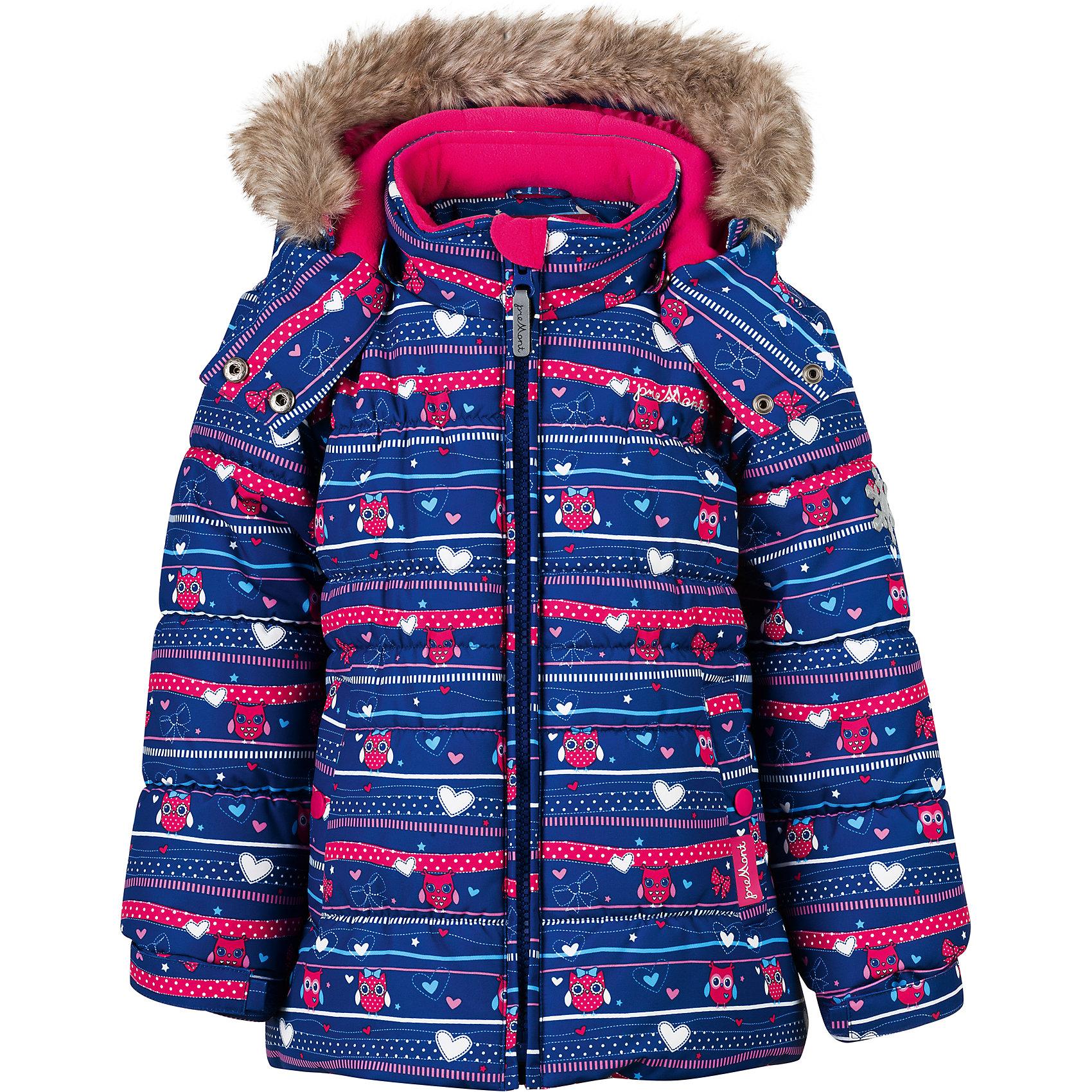 Куртка Premont для девочкиВерхняя одежда<br>Характеристики товара:<br><br>• цвет: синий<br>• состав ткани: Taslan<br>• подкладка: Polar fleece, Taffeta<br>• утеплитель: Tech-polyfill<br>• сезон: зима<br>• мембранное покрытие<br>• температурный режим: от -20 до +5<br>• водонепроницаемость: 5000 мм <br>• паропроницаемость: 5000 г/м2<br>• плотность утеплителя: 220 г/м2<br>• капюшон: съемный<br>• искусственный мех на капюшоне отстегивается<br>• застежка: молния<br>• страна бренда: Канада<br>• страна изготовитель: Китай<br><br>Мембранная зимняя куртка предусматривает множество деталей. Детская куртка дополнена эластичными манжетами, светоотражающими элементами, планкой от ветра и карманами. Мембранная куртка для ребенка сделана из современных качественных материалов. <br><br>Куртку для девочки Premont (Премонт) можно купить в нашем интернет-магазине.<br><br>Ширина мм: 356<br>Глубина мм: 10<br>Высота мм: 245<br>Вес г: 519<br>Цвет: синий<br>Возраст от месяцев: 84<br>Возраст до месяцев: 96<br>Пол: Женский<br>Возраст: Детский<br>Размер: 128,92,98,100,104,110,116,120,122<br>SKU: 7088255