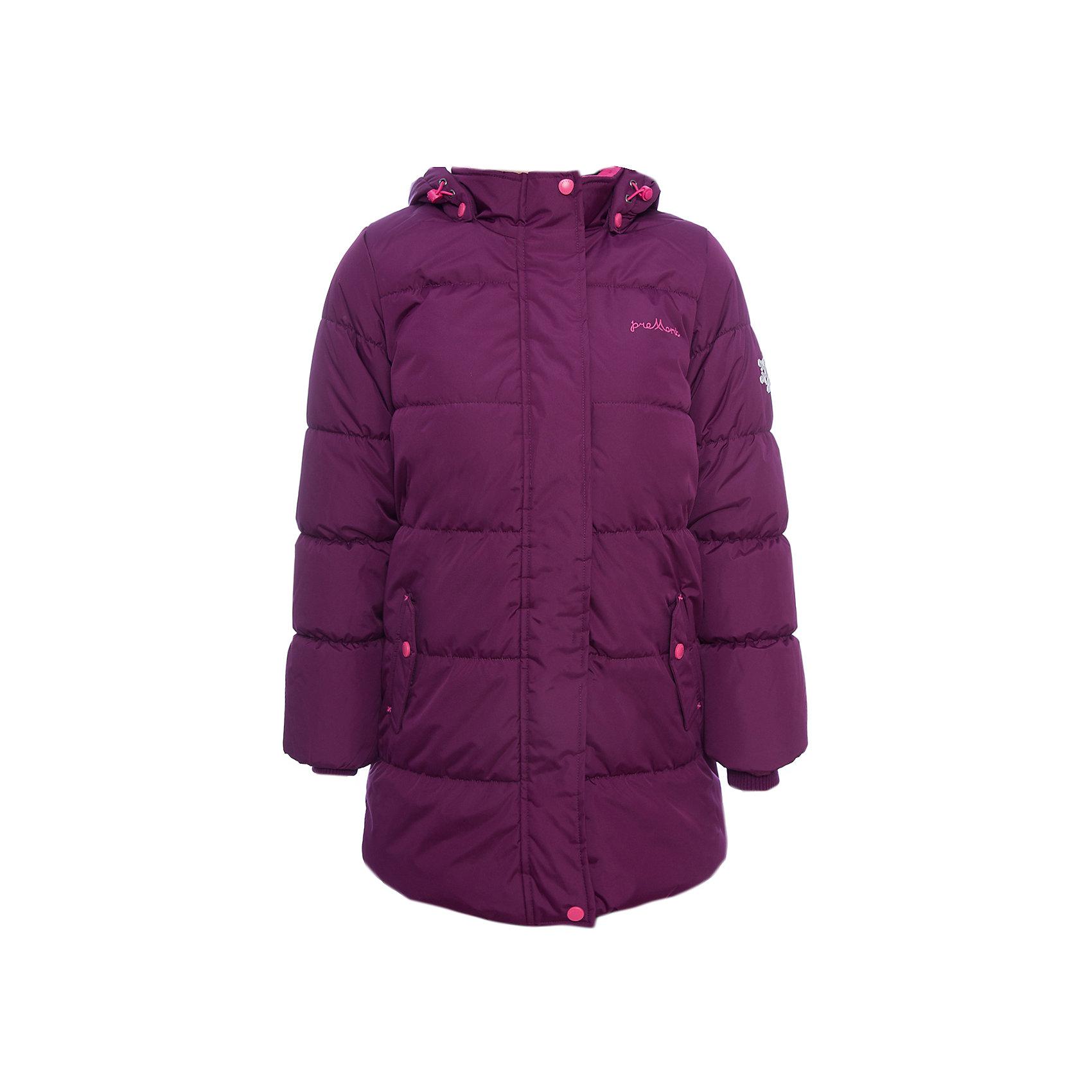 Пальто Premont для девочкиВерхняя одежда<br>Характеристики товара:<br><br>• цвет: фиолетовый<br>• состав ткани: Taslan<br>• подкладка: Polar fleece, Taffeta<br>• утеплитель: Tech-polyfill<br>• сезон: зима<br>• мембранное покрытие<br>• температурный режим: от -30 до +5<br>• водонепроницаемость: 5000 мм <br>• паропроницаемость: 5000 г/м2<br>• плотность утеплителя: 280 г/м2<br>• капюшон: съемный<br>• искусственный мех на капюшоне отстегивается<br>• застежка: молния<br>• страна бренда: Канада<br>• страна изготовитель: Китай<br><br>Удлиненное мембранное пальто для девочки выглядит стильно и комфортно садится по фигуре. Обеспечить ребенку тепло и удобство в морозы поможет это детское пальто. Зимнее пальто дополнено эластичными манжетами, светоотражающими элементами, лямками, планкой от ветра и карманами на липучках. <br><br>Пальто для девочки Premont (Премонт) можно купить в нашем интернет-магазине.<br><br>Ширина мм: 356<br>Глубина мм: 10<br>Высота мм: 245<br>Вес г: 519<br>Цвет: фиолетовый<br>Возраст от месяцев: 48<br>Возраст до месяцев: 60<br>Пол: Женский<br>Возраст: Детский<br>Размер: 110,164,158,152,146,140,74,128,122,116<br>SKU: 7088276