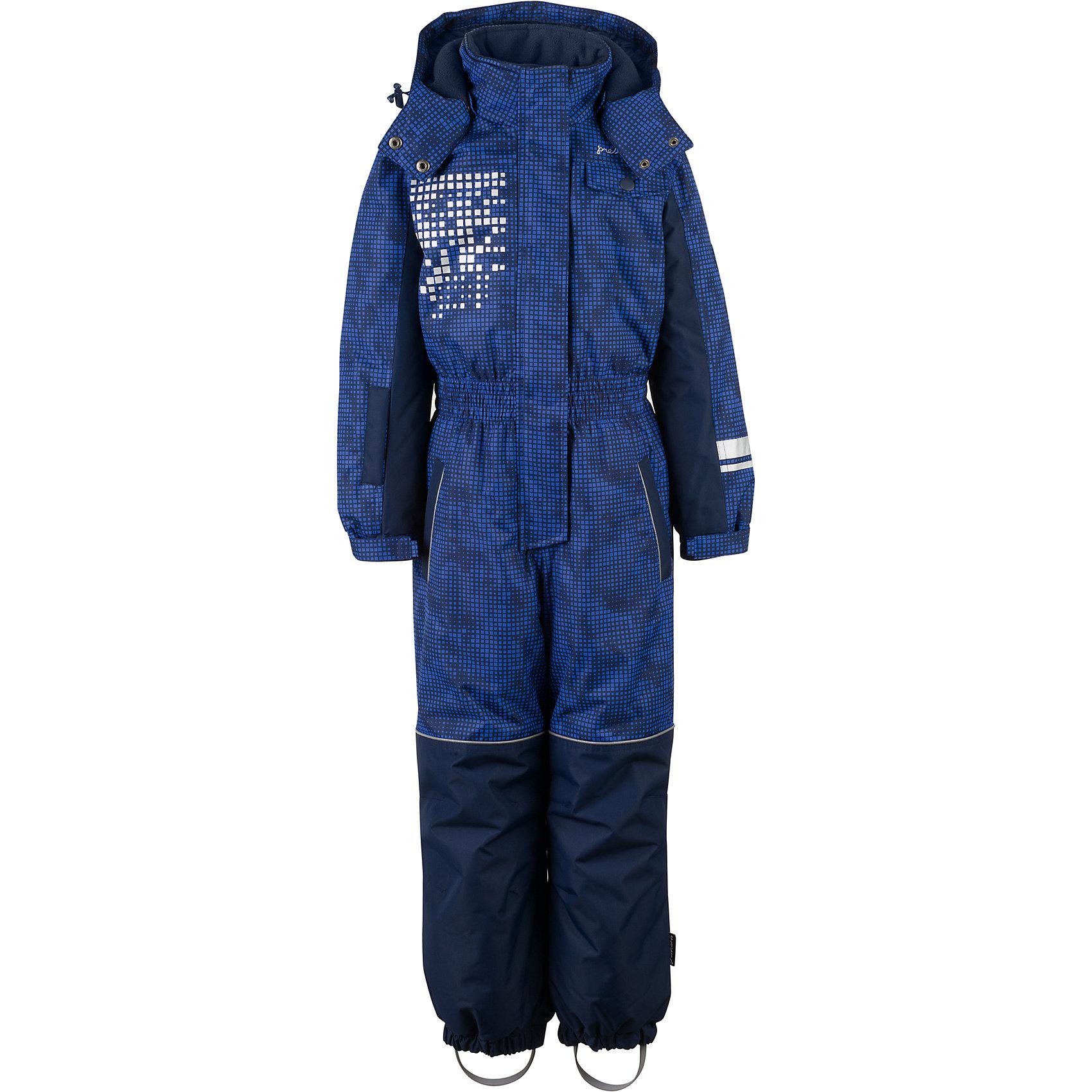 Комбинезон Premont для мальчикаВерхняя одежда<br>Характеристики товара:<br><br>• цвет: синий<br>• состав ткани: Taslan<br>• подкладка: Polar fleece, Taffeta<br>• утеплитель: Tech-polyfill<br>• сезон: зима<br>• мембранное покрытие<br>• температурный режим: от -30 до +5<br>• водонепроницаемость: 5000 мм <br>• паропроницаемость: 5000 г/м2<br>• плотность утеплителя: 280 г/м2<br>• капюшон: несъемный<br>• искусственный мех на капюшоне отстегивается<br>• застежка: молния<br>• страна бренда: Канада<br>• страна изготовитель: Китай<br><br>Практичный зимний детский комбинезон сделан с применением мембранной технологии. Мягкая подкладка комбинезона для детей делает его очень комфортным. Зимний комбинезон для ребенка снабжен мягкими манжетами. Детский теплый комбинезон дополнен удобным капюшоном, планкой от ветра и карманами на липучках. <br><br>Комбинезон для мальчика Premont (Премонт) можно купить в нашем интернет-магазине.<br><br>Ширина мм: 356<br>Глубина мм: 10<br>Высота мм: 245<br>Вес г: 519<br>Цвет: синий<br>Возраст от месяцев: 84<br>Возраст до месяцев: 96<br>Пол: Мужской<br>Возраст: Детский<br>Размер: 128,92,98,104,110,116,122<br>SKU: 7088327