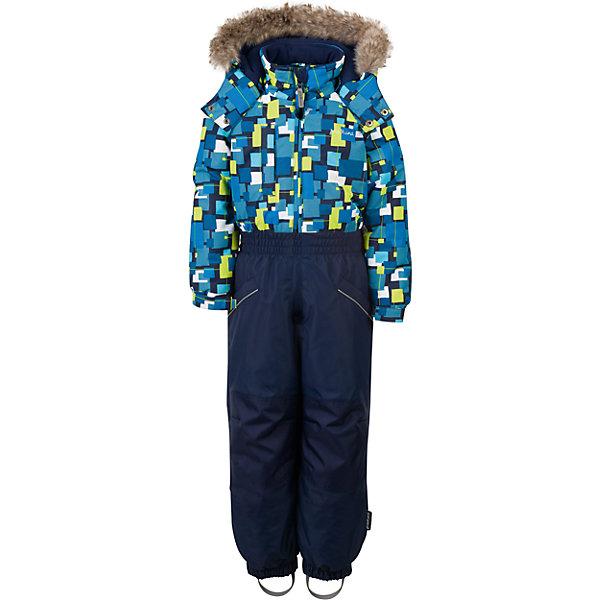 Комбинезон Premont для мальчикаВерхняя одежда<br>Характеристики товара:<br><br>• цвет: синий<br>• состав ткани: Taslan<br>• подкладка: Polar fleece, Taffeta<br>• утеплитель: Tech-polyfill<br>• сезон: зима<br>• мембранное покрытие<br>• температурный режим: от -20 до +5<br>• водонепроницаемость: 5000 мм <br>• паропроницаемость: 5000 г/м2<br>• плотность утеплителя: 220 г/м2<br>• капюшон: съемный<br>• искусственный мех на капюшоне отстегивается<br>• застежка: молния<br>• страна бренда: Канада<br>• страна изготовитель: Китай<br><br>Мягкая подкладка комбинезона для детей делает его очень комфортным. Зимний комбинезон для ребенка снабжен мягкими манжетами. Детский теплый комбинезон дополнен удобным капюшоном, планкой от ветра и карманами на липучках. Такой мембранный детский комбинезон легко надевается благодаря удлиненной молнии.  <br><br>Комбинезон для мальчика Premont (Премонт) можно купить в нашем интернет-магазине.<br>Ширина мм: 356; Глубина мм: 10; Высота мм: 245; Вес г: 519; Цвет: синий; Возраст от месяцев: 18; Возраст до месяцев: 24; Пол: Мужской; Возраст: Детский; Размер: 92,98,104,110,116,122,128; SKU: 7088335;