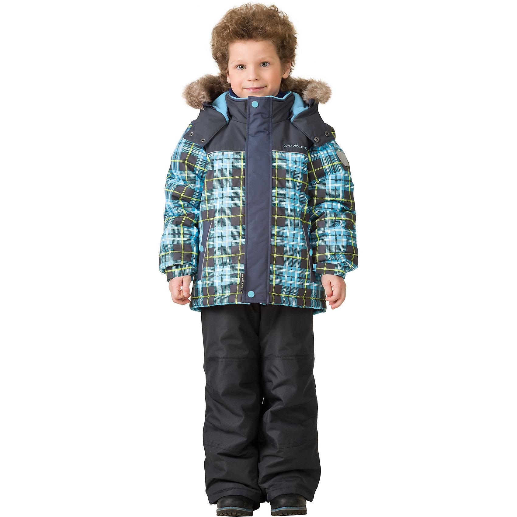 Комплект: куртка и брюки Premont для мальчикаВерхняя одежда<br>Характеристики товара:<br><br>• цвет: голубой<br>• комплектация: куртка и брюки<br>• состав ткани: Taslan<br>• подкладка: Polar fleece, Taffeta<br>• утеплитель: Tech-polyfill<br>• сезон: зима<br>• мембранное покрытие<br>• температурный режим: от -30 до +5<br>• водонепроницаемость: 5000 мм <br>• паропроницаемость: 5000 г/м2<br>• плотность утеплителя: куртка - 280 г/м2, брюки - 180 г/м2<br>• капюшон: съемный<br>• искусственный мех на капюшоне отстегивается<br>• застежка: молния<br>• страна бренда: Канада<br>• страна изготовитель: Китай<br><br>Этот зимний комплект для ребенка - это куртка с капюшоном и брюки. Детский теплый комплект дополнен светоотражающими элементами, лямками, планкой от ветра и карманами на липучках. Теплый зимний детский комплект сделан с применением мембранной технологии. Мягкая подкладка комплекта для детей делает его теплым и комфортным. <br><br>Комплект: куртка и брюки для мальчика Premont (Премонт) можно купить в нашем интернет-магазине.<br><br>Ширина мм: 356<br>Глубина мм: 10<br>Высота мм: 245<br>Вес г: 519<br>Цвет: синий<br>Возраст от месяцев: 156<br>Возраст до месяцев: 168<br>Пол: Мужской<br>Возраст: Детский<br>Размер: 164,100,104,110,92,98,116,120,122,128,140,152<br>SKU: 7088343
