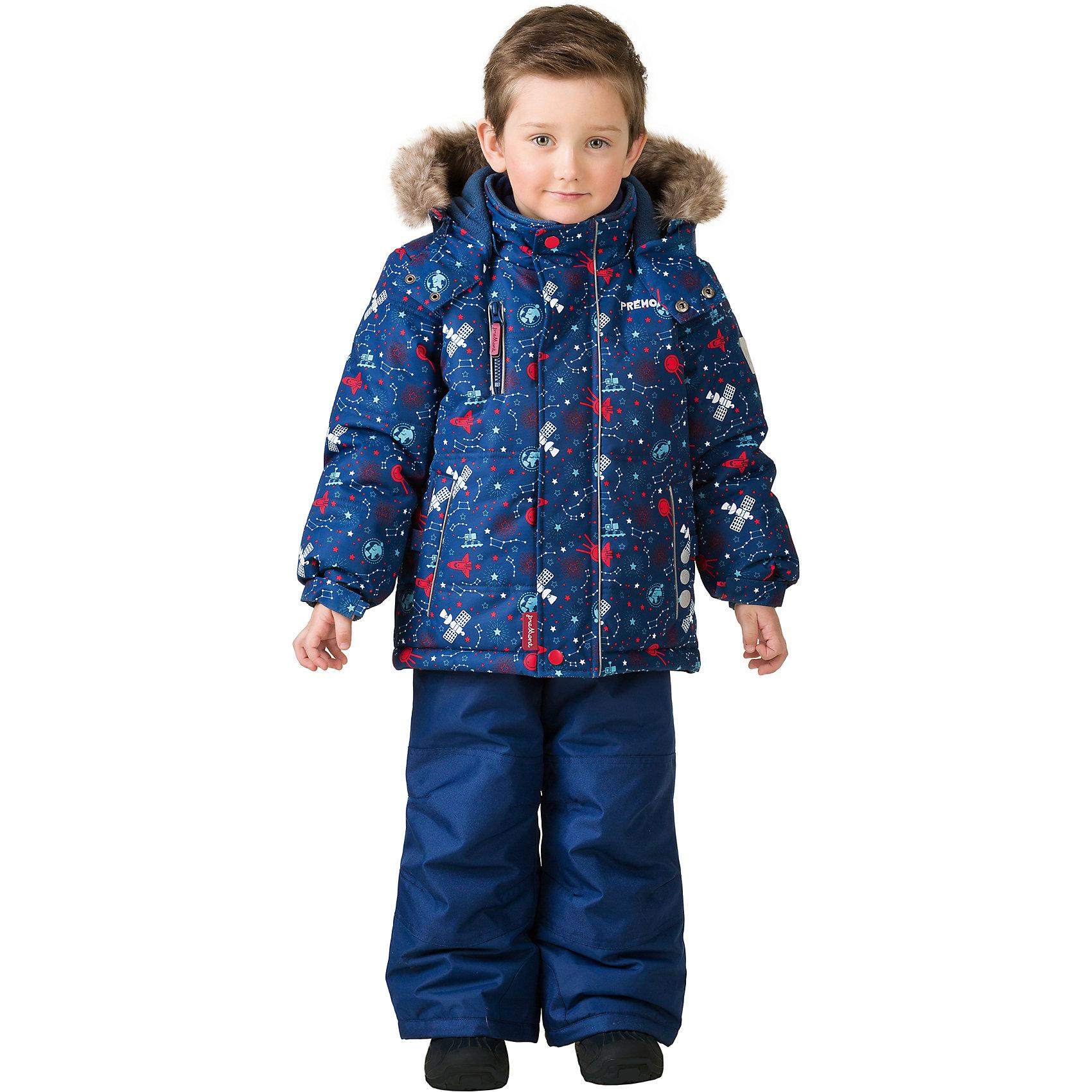 Комплект: куртка и брюки Premont для мальчикаВерхняя одежда<br>Характеристики товара:<br><br>• цвет: синий<br>• комплектация: куртка и брюки<br>• состав ткани: Taslan<br>• подкладка: Polar fleece, Taffeta<br>• утеплитель: Tech-polyfill<br>• сезон: зима<br>• мембранное покрытие<br>• температурный режим: от -30 до +5<br>• водонепроницаемость: 5000 мм <br>• паропроницаемость: 5000 г/м2<br>• плотность утеплителя: куртка - 280 г/м2, брюки - 180 г/м2<br>• капюшон: съемный<br>• искусственный мех на капюшоне отстегивается<br>• застежка: молния<br>• страна бренда: Канада<br>• страна изготовитель: Китай<br><br>Такой мембранный комплект для ребенка состоит из куртки с капюшоном и брюк. Детский теплый комплект дополнен эластичными манжетами, светоотражающими элементами, лямками, планкой от ветра и карманами на липучках. Теплый зимний детский комплект сделан с применением мембранной технологии.<br><br>Комплект: куртка и брюки для мальчика Premont (Премонт) можно купить в нашем интернет-магазине.<br><br>Ширина мм: 356<br>Глубина мм: 10<br>Высота мм: 245<br>Вес г: 519<br>Цвет: синий<br>Возраст от месяцев: 84<br>Возраст до месяцев: 96<br>Пол: Мужской<br>Возраст: Детский<br>Размер: 128,92,98,100,104,110,116,120,122<br>SKU: 7088356