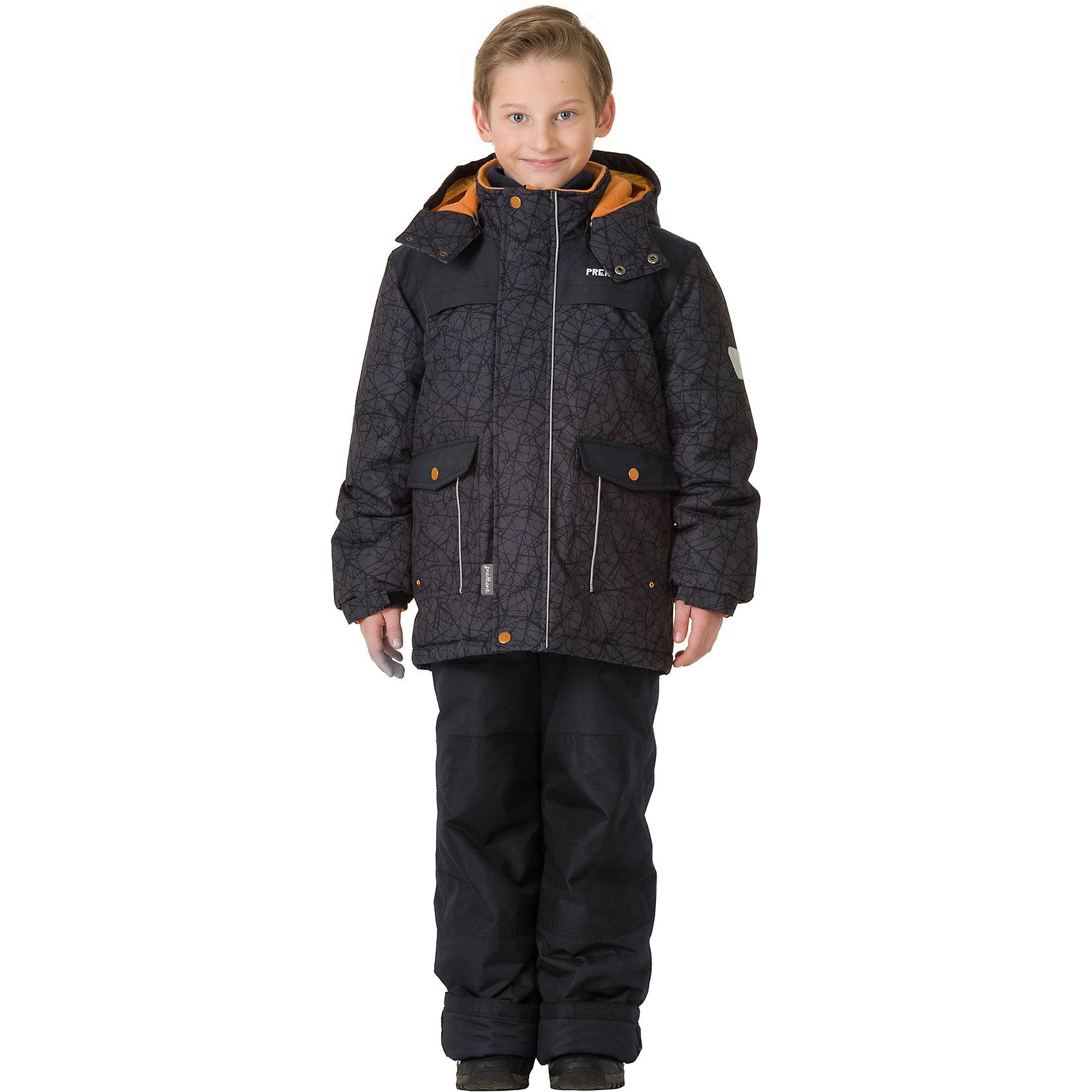 Комплект: куртка и брюки Premont для мальчикаВерхняя одежда<br>Характеристики товара:<br><br>• цвет: черный<br>• комплектация: куртка и брюки<br>• состав ткани: Taslan<br>• подкладка: Polar fleece, Taffeta<br>• утеплитель: Tech-polyfill<br>• сезон: зима<br>• мембранное покрытие<br>• температурный режим: от -30 до +5<br>• водонепроницаемость: 5000 мм <br>• паропроницаемость: 5000 г/м2<br>• плотность утеплителя: куртка - 280 г/м2, брюки - 180 г/м2<br>• капюшон: съемный<br>• искусственный мех на капюшоне отстегивается<br>• застежка: молния<br>• страна бренда: Канада<br>• страна изготовитель: Китай<br><br>Черный зимний детский комплект позволяет ребенку не замерзнуть даже в сильный мороз, потому что теплый комплект для детей сделан с применением мембранной технологии. Зимний комплект для ребенка обеспечивает удобство при долгом нахождении ребенка на улице. <br><br>Комплект: куртка и брюки для мальчика Premont (Премонт) можно купить в нашем интернет-магазине.<br><br>Ширина мм: 356<br>Глубина мм: 10<br>Высота мм: 245<br>Вес г: 519<br>Цвет: серый<br>Возраст от месяцев: 156<br>Возраст до месяцев: 168<br>Пол: Мужской<br>Возраст: Детский<br>Размер: 164,104,110,116,120,122,128,140,152<br>SKU: 7088366