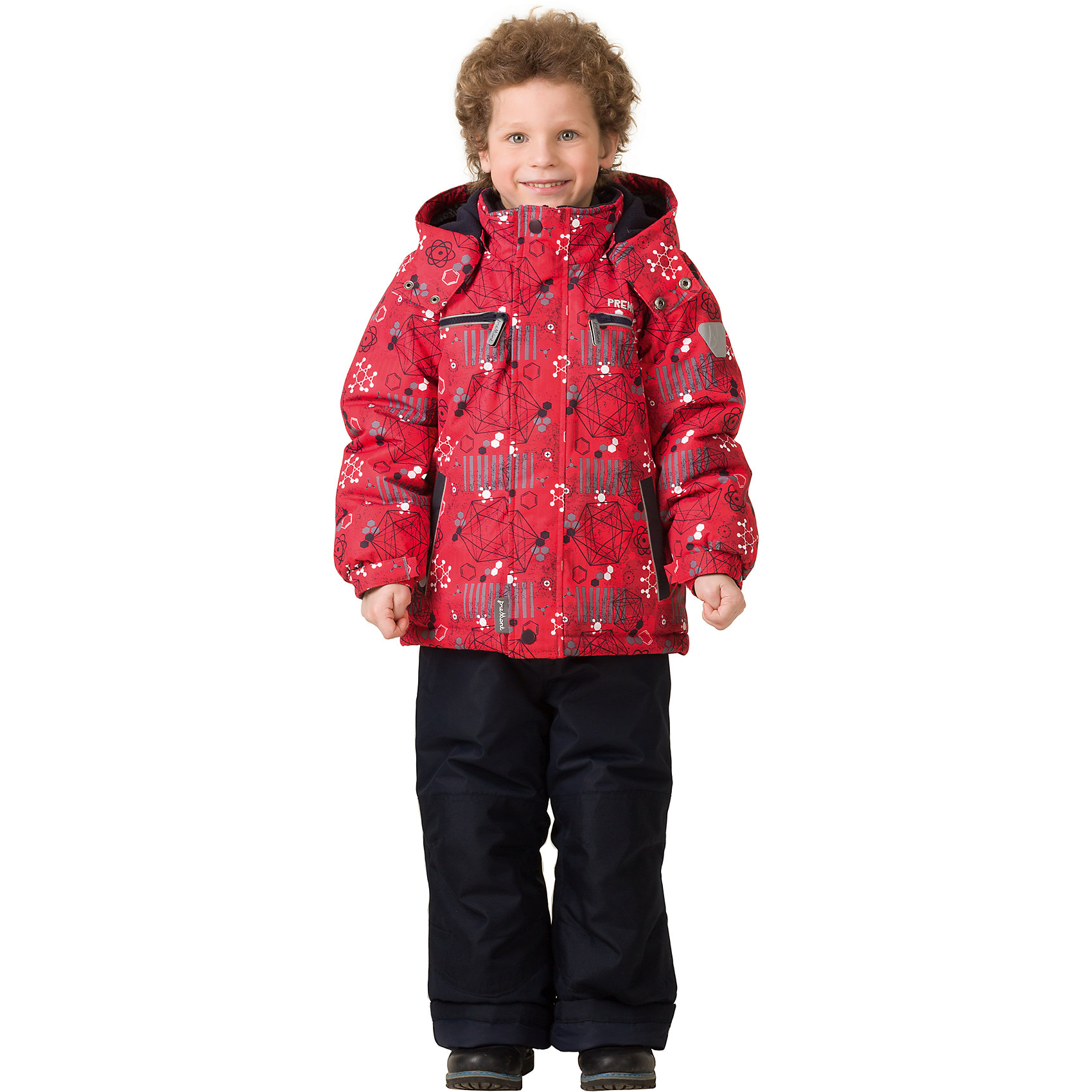 Комплект: куртка и брюки Premont для мальчикаВерхняя одежда<br>Характеристики товара:<br><br>• цвет: красный<br>• комплектация: куртка и брюки<br>• состав ткани: Taslan<br>• подкладка: Polar fleece, Taffeta<br>• утеплитель: Tech-polyfill<br>• сезон: зима<br>• мембранное покрытие<br>• температурный режим: от -30 до +5<br>• водонепроницаемость: 5000 мм <br>• паропроницаемость: 5000 г/м2<br>• плотность утеплителя: куртка - 280 г/м2, брюки - 180 г/м2<br>• капюшон: съемный,  без меха<br>• застежка: молния<br>• страна бренда: Канада<br>• страна изготовитель: Китай<br><br>Стильный зимний комплект позволяет ребенку не замерзнуть даже в сильный мороз, потому что теплый комплект для детей сделан с применением мембранной технологии. Зимний комплект для ребенка обеспечивает удобство при долгом нахождении ребенка на улице. Он создает и поддерживает комфортный микроклимат.<br><br>Комплект: куртка и брюки для мальчика Premont (Премонт) можно купить в нашем интернет-магазине.<br><br>Ширина мм: 356<br>Глубина мм: 10<br>Высота мм: 245<br>Вес г: 519<br>Цвет: красный<br>Возраст от месяцев: 156<br>Возраст до месяцев: 168<br>Пол: Мужской<br>Возраст: Детский<br>Размер: 164,92,98,100,104,110,116,122,128,140,152<br>SKU: 7088397