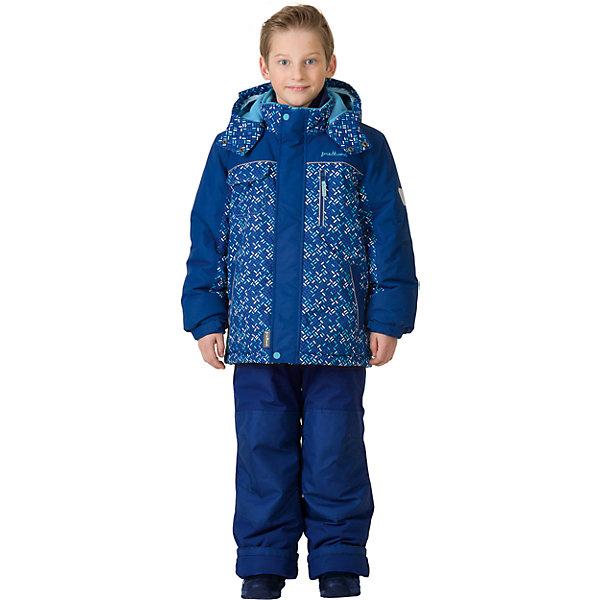 Комплект: куртка и брюки Premont для мальчикаВерхняя одежда<br>Характеристики товара:<br><br>• цвет: синий<br>• комплектация: куртка и брюки<br>• состав ткани: Taslan<br>• подкладка: Polar fleece, Taffeta<br>• утеплитель: Tech-polyfill<br>• сезон: зима<br>• мембранное покрытие<br>• температурный режим: от -30 до +5<br>• водонепроницаемость: 5000 мм <br>• паропроницаемость: 5000 г/м2<br>• плотность утеплителя: куртка - 280 г/м2, брюки - 180 г/м2<br>• капюшон: съемный,  без меха<br>• застежка: молния<br>• страна бренда: Канада<br>• страна изготовитель: Китай<br><br>Модный зимний комплект для ребенка усилен специальной износостойкой тканью. Теплый зимний детский комплект сделан с применением мембранной технологии. Детский теплый комплект дополнен светоотражающими элементами, лямками, планкой от ветра и карманами на липучках. Мягкая подкладка комплекта для детей делает его теплым и комфортным. <br><br>Комплект: куртка и брюки для мальчика Premont (Премонт) можно купить в нашем интернет-магазине.<br><br>Ширина мм: 356<br>Глубина мм: 10<br>Высота мм: 245<br>Вес г: 519<br>Цвет: синий<br>Возраст от месяцев: 18<br>Возраст до месяцев: 24<br>Пол: Мужской<br>Возраст: Детский<br>Размер: 92,164,152,140,128,122,120,116,110,104,100,98<br>SKU: 7088409