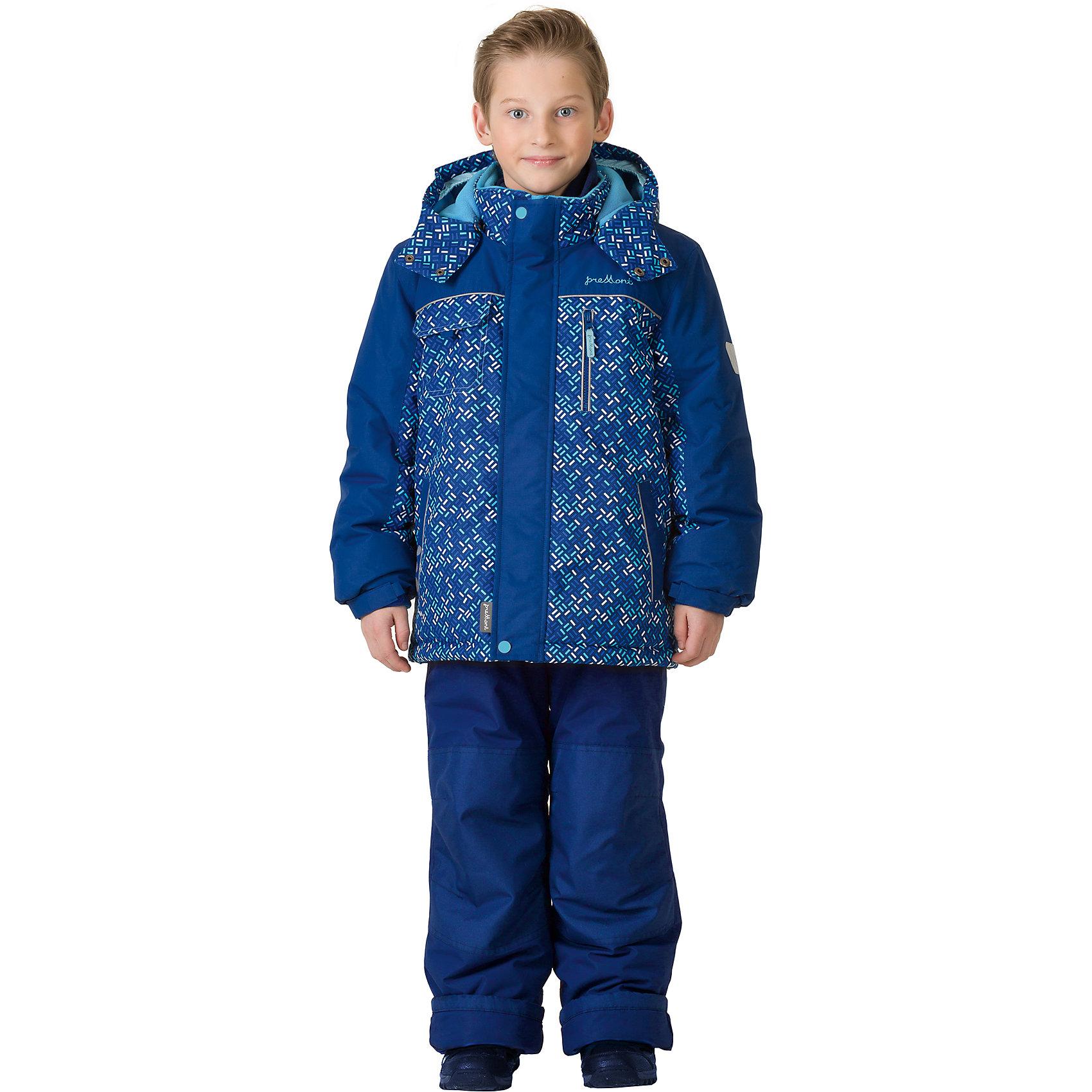 Комплект: куртка и брюки Premont для мальчикаВерхняя одежда<br>Характеристики товара:<br><br>• цвет: синий<br>• комплектация: куртка и брюки<br>• состав ткани: Taslan<br>• подкладка: Polar fleece, Taffeta<br>• утеплитель: Tech-polyfill<br>• сезон: зима<br>• мембранное покрытие<br>• температурный режим: от -30 до +5<br>• водонепроницаемость: 5000 мм <br>• паропроницаемость: 5000 г/м2<br>• плотность утеплителя: куртка - 280 г/м2, брюки - 180 г/м2<br>• капюшон: съемный,  без меха<br>• застежка: молния<br>• страна бренда: Канада<br>• страна изготовитель: Китай<br><br>Модный зимний комплект для ребенка усилен специальной износостойкой тканью. Теплый зимний детский комплект сделан с применением мембранной технологии. Детский теплый комплект дополнен светоотражающими элементами, лямками, планкой от ветра и карманами на липучках. Мягкая подкладка комплекта для детей делает его теплым и комфортным. <br><br>Комплект: куртка и брюки для мальчика Premont (Премонт) можно купить в нашем интернет-магазине.<br><br>Ширина мм: 356<br>Глубина мм: 10<br>Высота мм: 245<br>Вес г: 519<br>Цвет: синий<br>Возраст от месяцев: 156<br>Возраст до месяцев: 168<br>Пол: Мужской<br>Возраст: Детский<br>Размер: 164,92,98,100,104,110,116,120,122,128,140,152<br>SKU: 7088409