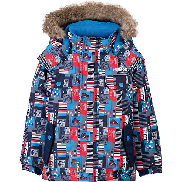 Куртка Premont для мальчикаВерхняя одежда<br>Характеристики товара:<br><br>• цвет: серый<br>• состав ткани: Taslan<br>• подкладка: Polar fleece, Taffeta<br>• утеплитель: Tech-polyfill<br>• сезон: зима<br>• мембранное покрытие<br>• температурный режим: от -20 до +5<br>• водонепроницаемость: 5000 мм <br>• паропроницаемость: 5000 г/м2<br>• плотность утеплителя: 220 г/м2<br>• капюшон: съемный<br>• искусственный мех на капюшоне отстегивается<br>• застежка: молния<br>• страна бренда: Канада<br>• страна изготовитель: Китай<br><br>Эта зимняя куртка предусматривает множество деталей. Детская куртка дополнена эластичными манжетами, светоотражающими элементами, планкой от ветра и карманами. Мембранная куртка для ребенка сделана из современных качественных материалов. <br><br>Куртку для мальчика Premont (Премонт) можно купить в нашем интернет-магазине.<br>Ширина мм: 356; Глубина мм: 10; Высота мм: 245; Вес г: 519; Цвет: серый; Возраст от месяцев: 24; Возраст до месяцев: 36; Пол: Мужской; Возраст: Детский; Размер: 100,128,104,110,116,120,122; SKU: 7088422;
