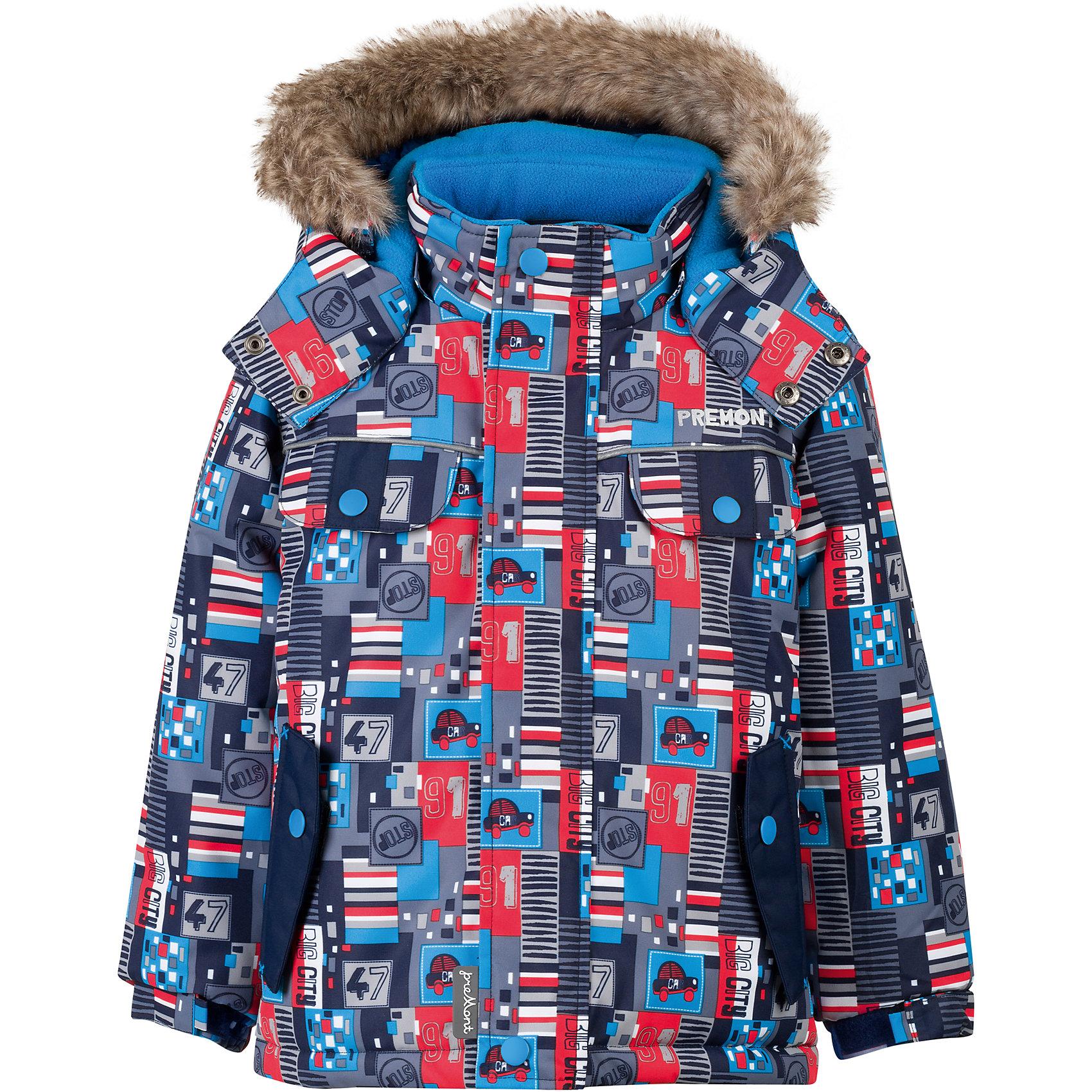 Куртка Premont для мальчикаВерхняя одежда<br>Характеристики товара:<br><br>• цвет: серый<br>• состав ткани: Taslan<br>• подкладка: Polar fleece, Taffeta<br>• утеплитель: Tech-polyfill<br>• сезон: зима<br>• мембранное покрытие<br>• температурный режим: от -20 до +5<br>• водонепроницаемость: 5000 мм <br>• паропроницаемость: 5000 г/м2<br>• плотность утеплителя: 220 г/м2<br>• капюшон: съемный<br>• искусственный мех на капюшоне отстегивается<br>• застежка: молния<br>• страна бренда: Канада<br>• страна изготовитель: Китай<br><br>Эта зимняя куртка предусматривает множество деталей. Детская куртка дополнена эластичными манжетами, светоотражающими элементами, планкой от ветра и карманами. Мембранная куртка для ребенка сделана из современных качественных материалов. <br><br>Куртку для мальчика Premont (Премонт) можно купить в нашем интернет-магазине.<br><br>Ширина мм: 356<br>Глубина мм: 10<br>Высота мм: 245<br>Вес г: 519<br>Цвет: серый<br>Возраст от месяцев: 84<br>Возраст до месяцев: 96<br>Пол: Мужской<br>Возраст: Детский<br>Размер: 128,100,104,110,116,120,122<br>SKU: 7088422