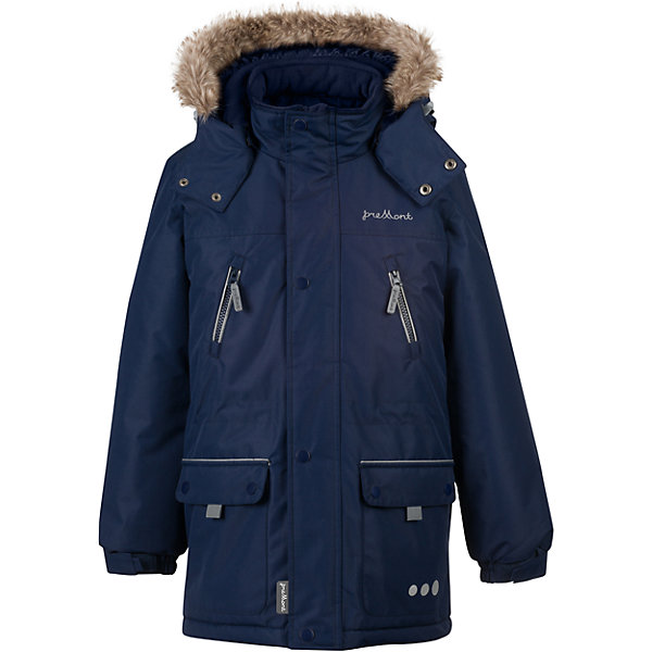 Парка Premont для мальчикаВерхняя одежда<br>Характеристики товара:<br><br>• цвет: синий<br>• состав ткани: Taslan<br>• подкладка: Polar fleece, Taffeta<br>• утеплитель: Tech-polyfill<br>• сезон: зима<br>• мембранное покрытие<br>• температурный режим: от -30 до +5<br>• водонепроницаемость: 5000 мм <br>• паропроницаемость: 5000 г/м2<br>• плотность утеплителя: куртка - 280 г/м2, брюки - 180 г/м2<br>• капюшон: съемный<br>• искусственный мех на капюшоне отстегивается<br>• застежка: молния<br>• страна бренда: Канада<br>• страна изготовитель: Китай<br><br>Теплая парка - это модно и удобно. Эта парка для детей сделана с применением мембранной технологии. Зимняя парка для ребенка обеспечивает удобство при долгом нахождении ребенка на улице. Синяя парка создает и поддерживает комфортный микроклимат.<br><br>Парку для мальчика Premont (Премонт) можно купить в нашем интернет-магазине.<br>Ширина мм: 356; Глубина мм: 10; Высота мм: 245; Вес г: 519; Цвет: синий; Возраст от месяцев: 144; Возраст до месяцев: 156; Пол: Мужской; Возраст: Детский; Размер: 158,146,140,74,128,164,152; SKU: 7088430;