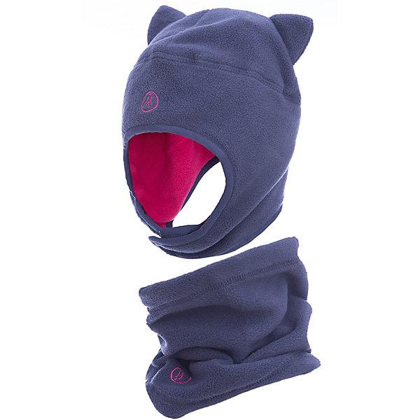 Комплект: шапка и шарф Premont для девочкиВерхняя одежда<br>Характеристики товара:<br><br>• цвет: серый<br>• комплектация: шапка и шарф <br>• состав ткани: флис, Polar fleece<br>• подкладка: флис, Polar fleece<br>• сезон: демисезон<br>• температурный режим: от -10 до +5<br>•  двойной флис в зоне ушей и лба<br>• застежка: липучка<br>• страна бренда: Канада<br>• страна изготовитель: Китай<br><br>Модный  комплект для ребенка состоит из оригинальной шапки и шарфа-снуда. Теплый детский комплект сделан из мягкого флиса. Детский теплый шарф легко надевается. Шапка с ушками - на липучке.<br><br>Комплект: шапка и шарф для девочки  Premont (Премонт) можно купить в нашем интернет-магазине.<br><br>Ширина мм: 89<br>Глубина мм: 117<br>Высота мм: 44<br>Вес г: 155<br>Цвет: серый<br>Возраст от месяцев: 12<br>Возраст до месяцев: 24<br>Пол: Женский<br>Возраст: Детский<br>Размер: 48,54,52,50<br>SKU: 7088438