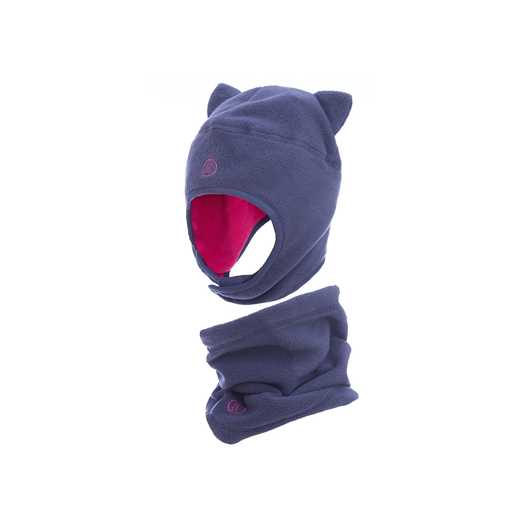 Комплект: шапка и шарф Premont для девочкиГоловные уборы<br>Характеристики товара:<br><br>• цвет: серый<br>• комплектация: шапка и шарф <br>• состав ткани: флис, Polar fleece<br>• подкладка: флис, Polar fleece<br>• сезон: демисезон<br>• температурный режим: от -10 до +5<br>•  двойной флис в зоне ушей и лба<br>• застежка: липучка<br>• страна бренда: Канада<br>• страна изготовитель: Китай<br><br>Модный  комплект для ребенка состоит из оригинальной шапки и шарфа-снуда. Теплый детский комплект сделан из мягкого флиса. Детский теплый шарф легко надевается. Шапка с ушками - на липучке.<br><br>Комплект: шапка и шарф для девочки  Premont (Премонт) можно купить в нашем интернет-магазине.<br><br>Ширина мм: 89<br>Глубина мм: 117<br>Высота мм: 44<br>Вес г: 155<br>Цвет: серый<br>Возраст от месяцев: 60<br>Возраст до месяцев: 120<br>Пол: Женский<br>Возраст: Детский<br>Размер: 54,48,50,52<br>SKU: 7088438