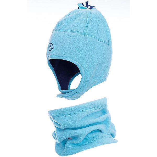 Комплект: шапка и шарф Premont для девочкиГоловные уборы<br>Характеристики товара:<br><br>• цвет: голубой<br>• комплектация: шапка и шарф <br>• состав ткани: флис, Polar fleece<br>• подкладка: флис, Polar fleece<br>• сезон: демисезон<br>• температурный режим: от -10 до +5<br>•  двойной флис в зоне ушей и лба<br>• застежка: липучка<br>• страна бренда: Канада<br>• страна изготовитель: Китай<br><br>Детский теплый шарф легко надевается. Шапка - на липучке. Стильный комплект для ребенка состоит из оригинальной шапки и шарфа-снуда. Теплый детский комплект сделан из мягкого флиса. <br><br>Комплект: шапка и шарф для девочки  Premont (Премонт) можно купить в нашем интернет-магазине.<br><br>Ширина мм: 89<br>Глубина мм: 117<br>Высота мм: 44<br>Вес г: 155<br>Цвет: синий<br>Возраст от месяцев: 12<br>Возраст до месяцев: 24<br>Пол: Женский<br>Возраст: Детский<br>Размер: 48,54,52,50<br>SKU: 7088453