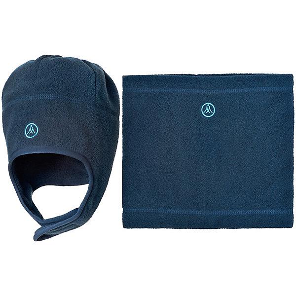 Комплект: шапка и шарф Premont для мальчикаВерхняя одежда<br>Характеристики товара:<br><br>• цвет: синий<br>• комплектация: шапка и шарф <br>• состав ткани: флис, Polar fleece<br>• подкладка: флис, Polar fleece<br>• сезон: демисезон<br>• температурный режим: от -10 до +5<br>•  двойной флис в зоне ушей и лба<br>• застежка: липучка<br>• страна бренда: Канада<br>• страна изготовитель: Китай<br><br>Практичный детский комплект сшит из мягкого теплого флиса. Модный зимний комплект для ребенка состоит из оригинальной шапки и шарфа-снуда. Детский теплый шарф-снуд и шапку ребенок легко наденет самостоятельно. В комплекте - двойной флис в зоне ушей и лба<br><br>Комплект: шапка и шарф для мальчика  Premont (Премонт) можно купить в нашем интернет-магазине.<br><br>Ширина мм: 89<br>Глубина мм: 117<br>Высота мм: 44<br>Вес г: 155<br>Цвет: синий<br>Возраст от месяцев: 60<br>Возраст до месяцев: 72<br>Пол: Мужской<br>Возраст: Детский<br>Размер: 52,48,54,50<br>SKU: 7088458