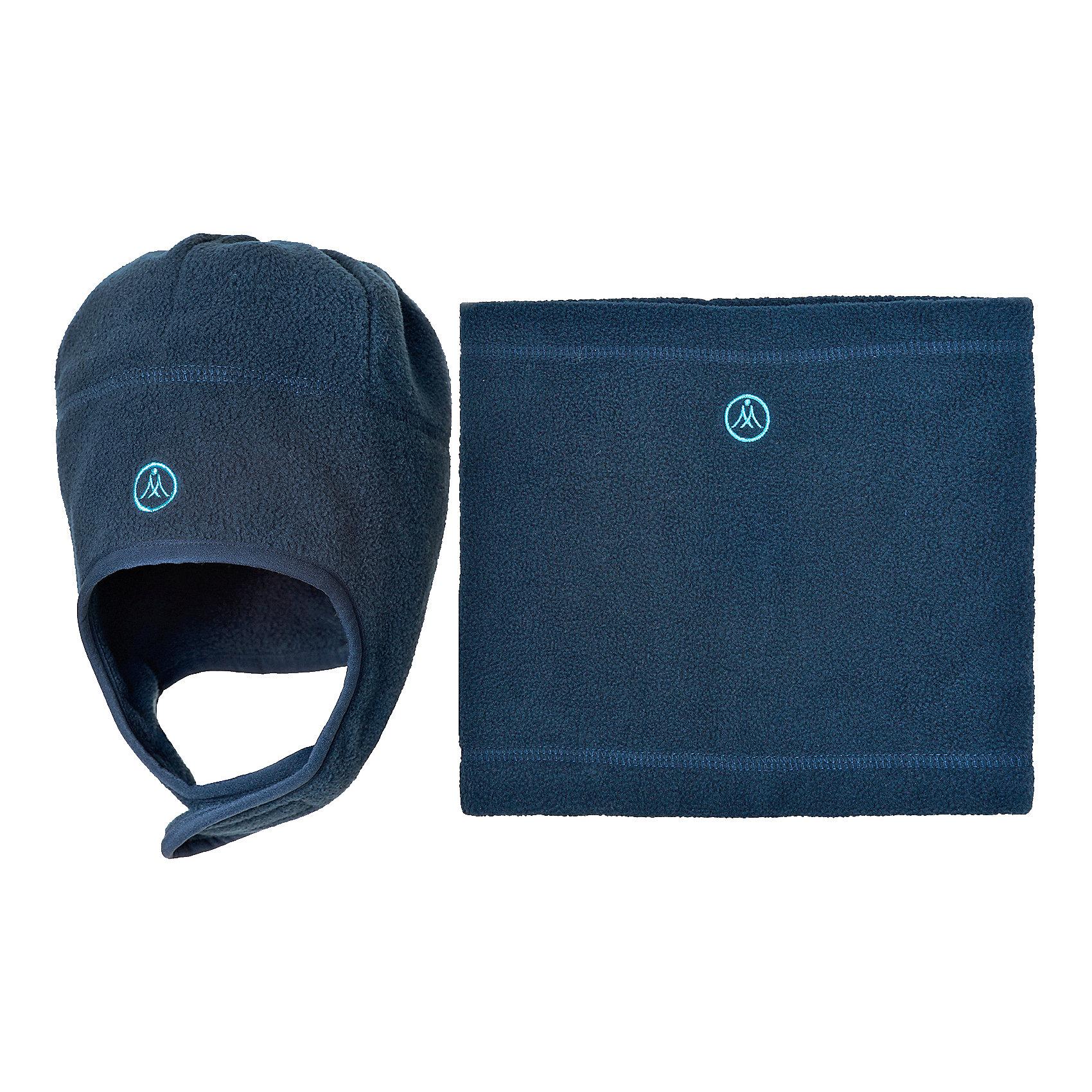 Комплект: шапка и шарф Premont для мальчикаГоловные уборы<br>Характеристики товара:<br><br>• цвет: синий<br>• комплектация: шапка и шарф <br>• состав ткани: флис, Polar fleece<br>• подкладка: флис, Polar fleece<br>• сезон: демисезон<br>• температурный режим: от -10 до +5<br>•  двойной флис в зоне ушей и лба<br>• застежка: липучка<br>• страна бренда: Канада<br>• страна изготовитель: Китай<br><br>Практичный детский комплект сшит из мягкого теплого флиса. Модный зимний комплект для ребенка состоит из оригинальной шапки и шарфа-снуда. Детский теплый шарф-снуд и шапку ребенок легко наденет самостоятельно. В комплекте - двойной флис в зоне ушей и лба<br><br>Комплект: шапка и шарф для мальчика  Premont (Премонт) можно купить в нашем интернет-магазине.<br><br>Ширина мм: 89<br>Глубина мм: 117<br>Высота мм: 44<br>Вес г: 155<br>Цвет: синий<br>Возраст от месяцев: 60<br>Возраст до месяцев: 120<br>Пол: Мужской<br>Возраст: Детский<br>Размер: 54,48,50,52<br>SKU: 7088458