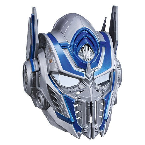 Электронная маска Hasbro Трансформеры 5, Оптимус ПраймДругие наборы<br>Характеристики товара:<br><br>• возраст: от 6 лет;<br>• материал: пластик;<br>• тип батареек: 3 батарейки ААА;<br>• наличие батареек: не входят в комплект;<br>• размер упаковки: 31,4х28,6х46,7 см;<br>• вес упаковки: 1,27 кг;<br>• страна производитель: Китай.<br><br>Шлем Трансформеры Hasbro создан по мотивам известного фильма «Трансформеры: Последний рыцарь». Он представляет собой шлем одного из известных героев Оптимуса Прайма, предводителя автоботов. Шлем оснащен функцией изменения голоса, а также воспроизводит более 20 звуков и фраз.<br><br>Шлем Трансформеры Hasbro можно приобрести в нашем интернет-магазине.<br><br>Ширина мм: 9999<br>Глубина мм: 9999<br>Высота мм: 9999<br>Вес г: 9999<br>Возраст от месяцев: 72<br>Возраст до месяцев: 120<br>Пол: Мужской<br>Возраст: Детский<br>SKU: 7089645