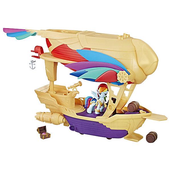 Игровой набор Hasbro My Little Pony Хранители гармонии, Рэйнбоу ДэшФигурки из мультфильмов<br>Характеристики товара:<br><br>• возраст: от 4 лет;<br>• материал: пластик;<br>• в комплекте: фигурка Рейнбоу Дэш, транспортное средство, пушки, снаряды, аксессуары;<br>• высота фигурки: 9 см;<br>• размер упаковки: 46х38х19 см;<br>• вес упаковки: 1,86 кг;<br>• страна производитель: Китай.<br><br>Игровой набор «Май Литтл Пони: Хранители гармонии» Hasbro выполнен по мотивам известного мультсериала про маленьких пони. В наборе представлена фигурка Рейнбоу Дэш и ее транспортное средство — необычный корабль. На борту находятся ящик с сокровищами, бочки и оружие. Сверху открывающийся отсек для хранения всех аксессуаров.<br><br>Игровой набор «Май Литтл Пони: Хранители гармонии» Hasbro можно приобрести в нашем интернет-магазине.<br><br>Ширина мм: 9999<br>Глубина мм: 9999<br>Высота мм: 9999<br>Вес г: 9999<br>Возраст от месяцев: 48<br>Возраст до месяцев: 120<br>Пол: Женский<br>Возраст: Детский<br>SKU: 7089650