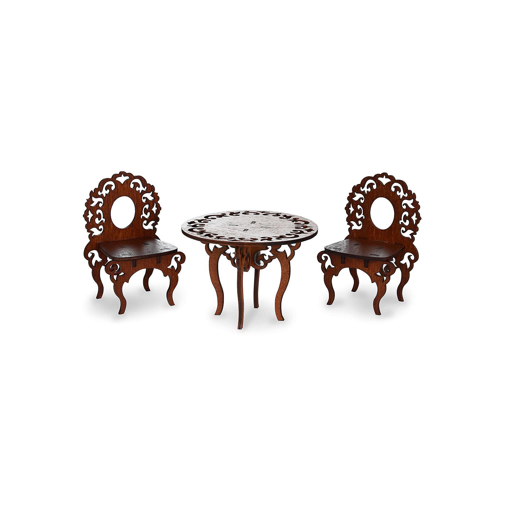 Комплект мебели ЯиГрушка Стол с двумя стульямиДомики и мебель<br><br><br>Ширина мм: 9999<br>Глубина мм: 9999<br>Высота мм: 9999<br>Вес г: 9999<br>Возраст от месяцев: 48<br>Возраст до месяцев: 96<br>Пол: Женский<br>Возраст: Детский<br>SKU: 7089688