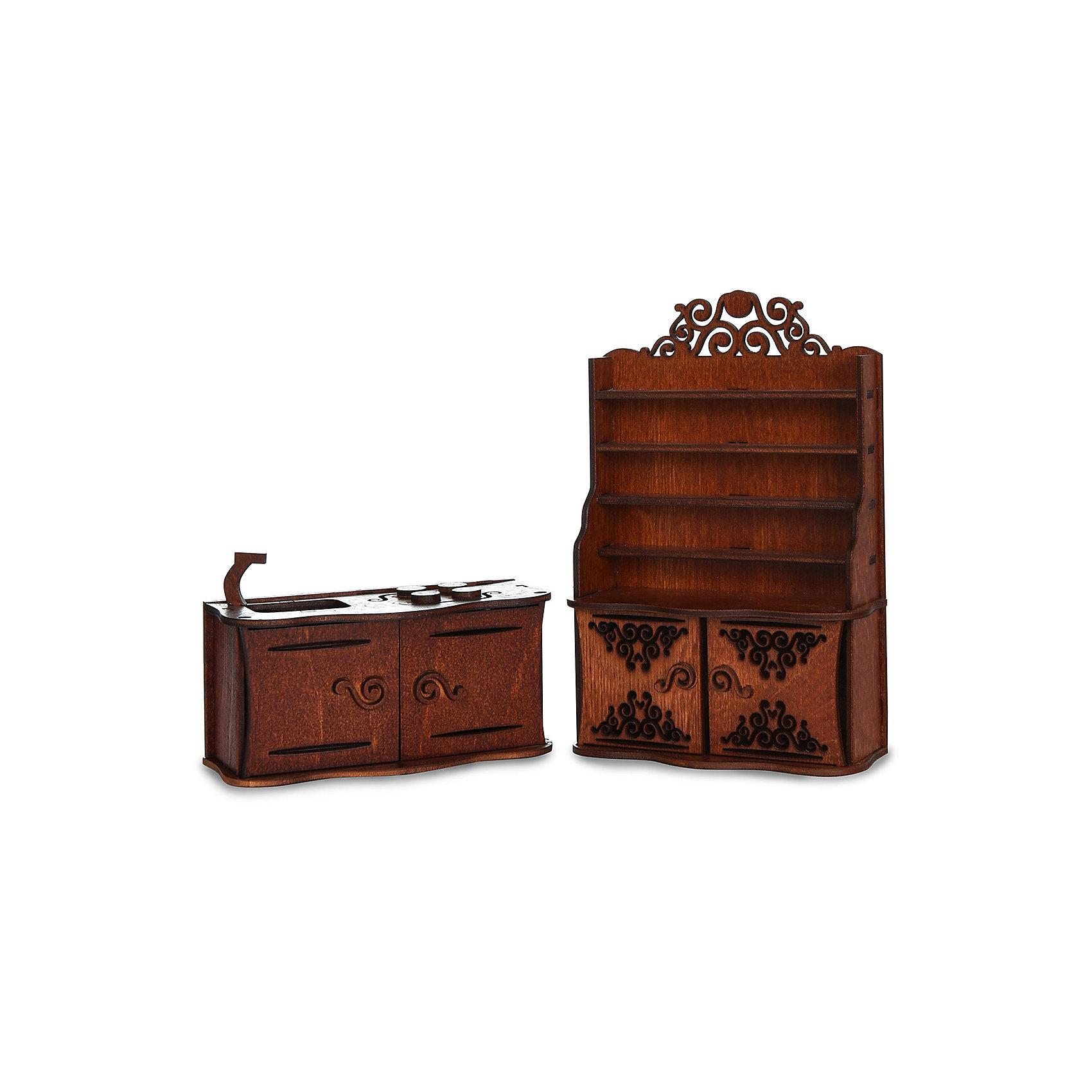 Комплект мебели ЯиГрушка Кухня 2 предметаДетские кухни<br>Характеристики товара:<br><br>• возраст: от 4 лет;<br>• материал: дерево (фанера);<br>• серия: одним перкрасным утром;<br>• в наборе: буфет, кухонный гарнитур;<br>• высота буфета: 16,5 см;<br>• размер упаковки: 20х13х11см;<br>• страна производства: Россия.<br><br>Набор кухонного гарнитура включает в себя буфет и тумбу с плитой и встроенной раковиной. На открытых полках буфета можно аккуратно расставить красивую посуду,чайный сервиз, вазу с любимыми цветами или книги с рецептами.<br><br>Нижняя часть буфета закрывается дверцами. Здесь хозяйка дома будет хранить кухонные принадлежности, которыми она пользуется каждый день. Дверца под мойкой открывается. <br><br>Стильная мебель позволит девочке обустроить кухню для кукол. Такой набор позволит малышке развить фантазию, мелкую моторику, внимательность и аккуратность.<br><br>Комплект мебели ЯиГрушка Кухня 2 предмета можно купить в нашем интернет-магазине.<br><br>Ширина мм: 9999<br>Глубина мм: 9999<br>Высота мм: 9999<br>Вес г: 9999<br>Возраст от месяцев: 48<br>Возраст до месяцев: 2147483647<br>Пол: Женский<br>Возраст: Детский<br>SKU: 7089690
