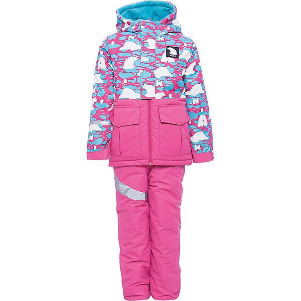 Комплект: куртка и полукомбинезон BOOM by Orby для девочкиВерхняя одежда<br>Характеристики товара:<br><br>• цвет: красный<br>• комплектация: куртка, полукомбинезон <br>• состав ткани: таффета<br>• подкладка: флис, полиэстер пуходержащий<br>• утеплитель: FiberSoft<br>• сезон: зима<br>• мембранное покрытие<br>• температурный режим: от 0 до -30С<br>• водонепроницаемость: 3000 мм <br>• паропроницаемость: 3000 г/м2<br>• плотность утеплителя: куртка - 400 г/м2, полукомбинезон - 200 г/м2<br>• капюшон: без меха<br>• застежка: молния<br>• штрипки<br>• страна бренда: Россия<br>• страна изготовитель: Россия<br><br>Мембранный детский комплект создан специально для девочек. Плотная ткань верха и утеплитель детского зимнего комплекта надежно защищают от холода. Теплый комплект для девочки легко чистится. Зимний комплект для детей поможет обеспечить ребенку комфорт. Детский теплый комплект украшен принтом. <br><br>Комплект: куртка и полукомбинезон для девочки BOOM by Orby (Бум бай Орби) можно купить в нашем интернет-магазине.<br>Ширина мм: 356; Глубина мм: 10; Высота мм: 245; Вес г: 519; Цвет: розовый; Возраст от месяцев: 48; Возраст до месяцев: 60; Пол: Женский; Возраст: Детский; Размер: 110,140,86,92,98,104,116,122,128,134; SKU: 7090124;