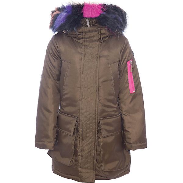 Куртка BOOM by Orby для девочкиВерхняя одежда<br>Характеристики товара:<br><br>• цвет: зеленый<br>• состав ткани: оксфорд pu milky<br>• подкладка: хлопок, флис, полиэстер пуходержащий<br>• утеплитель: Flexy Fiber<br>• сезон: зима<br>• температурный режим: от 0 до -30С<br>• плотность утеплителя: 400 г/м2<br>• капюшон: с мехом<br>• застежка: молния<br>• страна бренда: Россия<br>• страна изготовитель: Россия<br><br>Удлиненная теплая куртка для ребенка поможет защитить ребенка от холода. Детская теплая куртка дополнена удобным капюшоном, планкой от ветра и карманами. Такая детская куртка отлично подойдет для зимних морозов. <br><br>Куртку BOOM by Orby (Бум бай Орби) можно купить в нашем интернет-магазине.<br>Ширина мм: 356; Глубина мм: 10; Высота мм: 245; Вес г: 519; Цвет: хаки; Возраст от месяцев: 48; Возраст до месяцев: 60; Пол: Женский; Возраст: Детский; Размер: 110,116,122,128,134,140,146,152,158,164,170,98,104; SKU: 7090298;