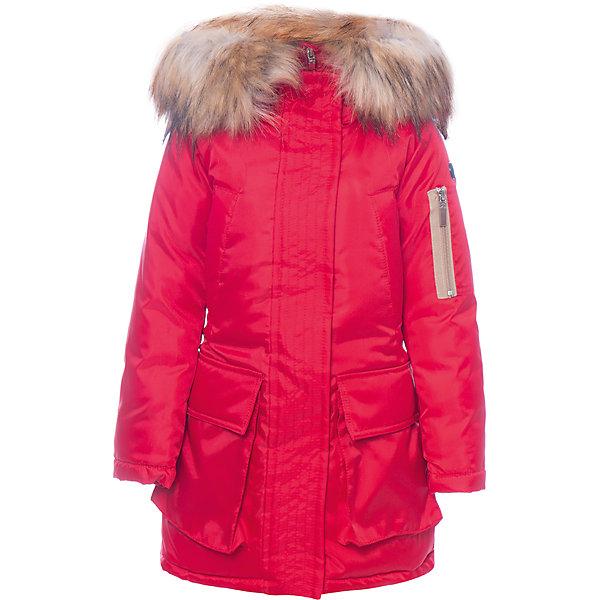 Куртка BOOM by Orby для девочкиВерхняя одежда<br>Характеристики товара:<br><br>• цвет: красный<br>• состав ткани: оксфорд pu milky<br>• подкладка: хлопок, флис, полиэстер пуходержащий<br>• утеплитель: эко синтепон <br>• сезон: зима<br>• температурный режим: от 0 до -30С<br>• плотность утеплителя: 400 г/м2<br>• капюшон: с мехом<br>• застежка: молния<br>• страна бренда: Россия<br>• страна изготовитель: Россия<br><br>Красная теплая куртка имеет удобный капюшон с опушкой. Зимняя куртка для ребенка поможет обеспечить необходимый уровень комфорта в морозы. Плотная ткань и утеплитель зимней куртки защитят ребенка от холодного воздуха. <br><br>Куртку для девочки BOOM by Orby (Бум бай Орби) можно купить в нашем интернет-магазине.<br>Ширина мм: 356; Глубина мм: 10; Высота мм: 245; Вес г: 519; Цвет: красный; Возраст от месяцев: 120; Возраст до месяцев: 132; Пол: Женский; Возраст: Детский; Размер: 146,140,134,128,116,110,104,98,122,170,164,158,152; SKU: 7090312;