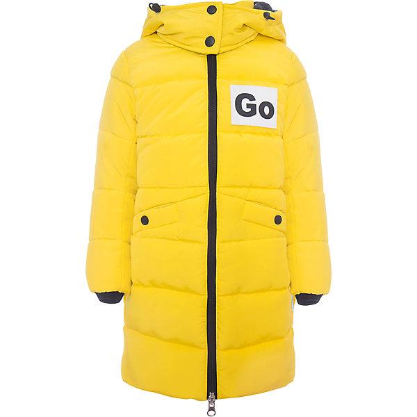 Пальто BOOM by Orby для девочкиВерхняя одежда<br>Характеристики товара:<br><br>• цвет: желтый<br>• состав ткани: твил pu milky<br>• подкладка: хлопок, флис, полиэстер пуходержащий<br>• утеплитель: эко синтепон<br>• сезон: зима<br>• температурный режим: от 0 до -30С<br>• плотность утеплителя: 400 г/м2<br>• капюшон: с мехом<br>• застежка: молния<br>• страна бренда: Россия<br>• страна изготовитель: Россия<br><br>Оригинальное детское пальто отлично подойдет для зимних холодов - в этом пальто для ребенка хороший утеплитель. Утепленное пальто для девочки поможет защитить ребенка от холода. Детское теплое пальто дополнено капюшоном и удобными карманами. <br><br>Пальто для девочки BOOM by Orby (Бум бай Орби) можно купить в нашем интернет-магазине.<br><br>Ширина мм: 356<br>Глубина мм: 10<br>Высота мм: 245<br>Вес г: 519<br>Цвет: желтый<br>Возраст от месяцев: 24<br>Возраст до месяцев: 36<br>Пол: Женский<br>Возраст: Детский<br>Размер: 98,158,152,146,140,134,128,122,116,110,104<br>SKU: 7090364