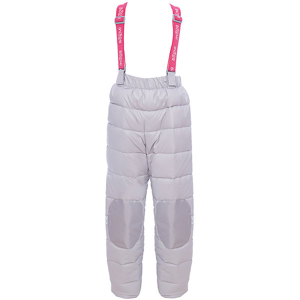 Брюки BOOM by Orby для девочкиВерхняя одежда<br>Характеристики товара:<br><br>• цвет: черный<br>• состав ткани: болонь pu milky<br>• подкладка: полиэстер пуходержащий<br>• утеплитель: эко синтепон<br>• сезон: зима<br>• температурный режим: от 0 до -30С<br>• плотность утеплителя: 200 г/м2<br>• пояс: резинка<br>• страна бренда: Россия<br>• страна изготовитель: Россия<br><br>Утепленный полукомбинезон для девочки поможет защитить ребенка от холода. Детский зимний полукомбинезон дополнен удобными подтяжками. Практичный детский полукомбинезон отлично подойдет для зимних холодов - в этом полукомбинезоне для ребенка хороший утеплитель. <br><br>Полукомбинезон для девочки BOOM by Orby (Бум бай Орби) можно купить в нашем интернет-магазине.<br><br>Ширина мм: 215<br>Глубина мм: 88<br>Высота мм: 191<br>Вес г: 336<br>Цвет: серый<br>Возраст от месяцев: 12<br>Возраст до месяцев: 15<br>Пол: Женский<br>Возраст: Детский<br>Размер: 80,158,152,146,140,134,128,122,116,110,104,98,92,86<br>SKU: 7090487