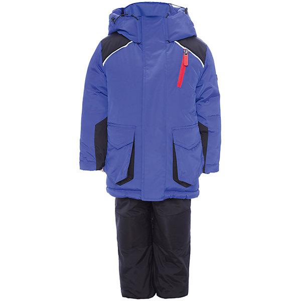 Комплект: куртка и полукомбинезон BOOM by Orby для мальчикаВерхняя одежда<br>Характеристики товара:<br><br>• цвет: синий<br>• комплектация: куртка, полукомбинезон <br>• состав ткани: твил pu milky<br>• подкладка: хлопок, флис, полиэстер пуходержащий<br>• утеплитель: Flexy Fiber, эко синтепон<br>• сезон: зима<br>• температурный режим: от -25 до -5<br>• плотность утеплителя: куртка - 400 г/м2, полукомбинезон - 200 г/м2<br>• капюшон: без меха<br>• застежка: молния<br>• страна бренда: Россия<br>• страна изготовитель: Россия<br><br>Такой зимний комплект для детей поможет обеспечить ребенку комфортный уровень утепления. Детский теплый комплект выполнен в практичной расцветке. Комплект для мальчика дополнен удобным капюшоном, планкой от ветра и карманами. Этот зимний детский комплект создан специально для мальчиков. <br><br>Комплект: куртка и полукомбинезон для мальчика BOOM by Orby (Бум бай Орби) можно купить в нашем интернет-магазине.<br>Ширина мм: 356; Глубина мм: 10; Высота мм: 245; Вес г: 519; Цвет: синий; Возраст от месяцев: 24; Возраст до месяцев: 36; Пол: Мужской; Возраст: Детский; Размер: 98,92,86,122,116,110,104; SKU: 7090684;