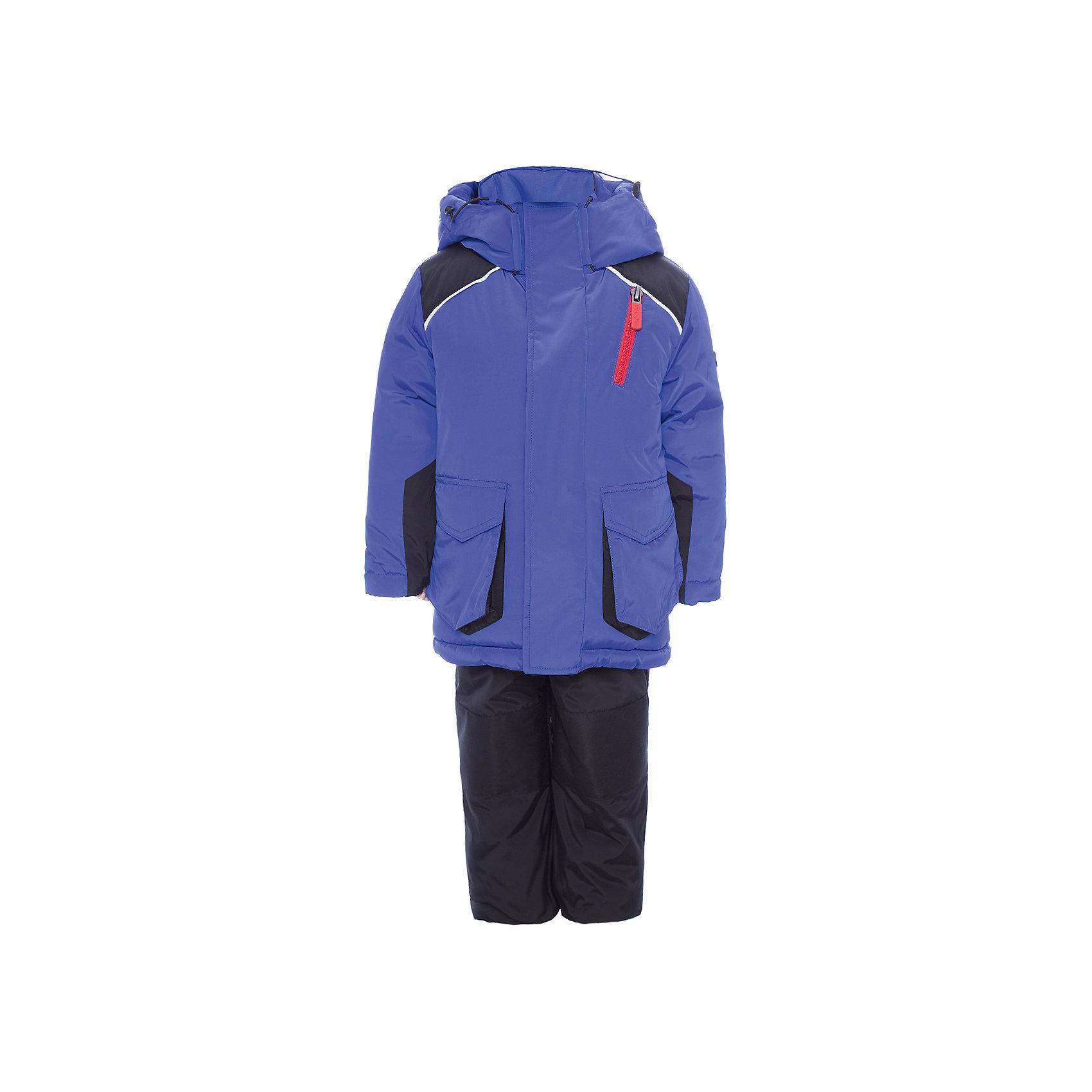 Комплект: куртка и полукомбинезон BOOM by Orby для мальчикаВерхняя одежда<br>Характеристики товара:<br><br>• цвет: синий<br>• комплектация: куртка, полукомбинезон <br>• состав ткани: твил pu milky<br>• подкладка: хлопок, флис, полиэстер пуходержащий<br>• утеплитель: Flexy Fiber, эко синтепон<br>• сезон: зима<br>• температурный режим: от -25 до -5<br>• плотность утеплителя: куртка - 400 г/м2, полукомбинезон - 200 г/м2<br>• капюшон: без меха<br>• застежка: молния<br>• страна бренда: Россия<br>• страна изготовитель: Россия<br><br>Такой зимний комплект для детей поможет обеспечить ребенку комфортный уровень утепления. Детский теплый комплект выполнен в практичной расцветке. Комплект для мальчика дополнен удобным капюшоном, планкой от ветра и карманами. Этот зимний детский комплект создан специально для мальчиков. <br><br>Комплект: куртка и полукомбинезон для мальчика BOOM by Orby (Бум бай Орби) можно купить в нашем интернет-магазине.<br><br>Ширина мм: 356<br>Глубина мм: 10<br>Высота мм: 245<br>Вес г: 519<br>Цвет: синий<br>Возраст от месяцев: 72<br>Возраст до месяцев: 84<br>Пол: Мужской<br>Возраст: Детский<br>Размер: 122,86,92,98,104,110,116<br>SKU: 7090684
