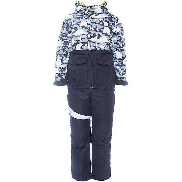 Комплект: куртка и полукомбинезон BOOM by Orby для мальчикаВерхняя одежда<br>Характеристики товара:<br><br>• цвет: черный<br>• комплектация: куртка, полукомбинезон <br>• состав ткани: таффета фактурная<br>• подкладка: флис, полиэстер пуходержащий<br>• утеплитель: FiberSoft<br>• сезон: зима<br>• мембранное покрытие<br>• температурный режим: от 0 до -30С<br>• водонепроницаемость: 3000 мм <br>• паропроницаемость: 3000 г/м2<br>• плотность утеплителя: куртка - 400 г/м2, полукомбинезон - 200 г/м2<br>• капюшон: без меха<br>• застежка: молния<br>• страна бренда: Россия<br>• страна изготовитель: Россия<br><br>Практичный зимний комплект для ребенка поможет обеспечить необходимый уровень утепления. Детский теплый комплект дополнен удобным капюшоном, планкой от ветра и карманами. Мембранная ткань верха детского зимнего комплекта защищает от промокания и ветра. Мембранный комплект для мальчика легко чистится. <br><br>Комплект: куртка и полукомбинезон для мальчика BOOM by Orby (Бум бай Орби) можно купить в нашем интернет-магазине.<br><br>Ширина мм: 356<br>Глубина мм: 10<br>Высота мм: 245<br>Вес г: 519<br>Цвет: черный<br>Возраст от месяцев: 12<br>Возраст до месяцев: 18<br>Пол: Мужской<br>Возраст: Детский<br>Размер: 86,140,134,128,122,116,110,104,98,92<br>SKU: 7090700