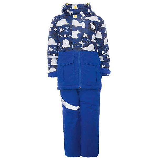 Комплект: куртка и полукомбинезон BOOM by Orby для мальчикаВерхняя одежда<br>Характеристики товара:<br><br>• цвет: синий<br>• комплектация: куртка, полукомбинезон <br>• состав ткани: таффета фактурная<br>• подкладка: флис, полиэстер пуходержащий<br>• утеплитель: FiberSoft<br>• сезон: зима<br>• мембранное покрытие<br>• температурный режим: от 0 до -30С<br>• водонепроницаемость: 3000 мм <br>• паропроницаемость: 3000 г/м2<br>• плотность утеплителя: куртка - 400 г/м2, полукомбинезон - 200 г/м2<br>• капюшон: без меха<br>• застежка: молния<br>• страна бренда: Россия<br>• страна изготовитель: Россия<br><br>Мембранное покрытие, плотная ткань верха и утеплитель детского зимнего комплекта надежно защищают от холода. Такой зимний детский комплект создан специально для мальчиков. Теплый комплект для мальчика легко чистится. Зимний комплект для детей поможет обеспечить ребенку комфорт. Детский теплый комплект украшен оригинальным принтом. <br><br>Комплект: куртка и полукомбинезон для мальчика BOOM by Orby (Бум бай Орби) можно купить в нашем интернет-магазине.<br>Ширина мм: 356; Глубина мм: 10; Высота мм: 245; Вес г: 519; Цвет: синий; Возраст от месяцев: 12; Возраст до месяцев: 18; Пол: Мужской; Возраст: Детский; Размер: 86,140,134,128,122,116,110,104,98,92; SKU: 7090711;