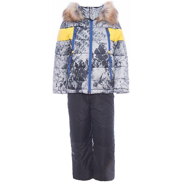 Комплект: куртка и полукомбинезон BOOM by Orby для мальчикаВерхняя одежда<br>Характеристики товара:<br><br>• цвет: синий<br>• комплектация: куртка, полукомбинезон <br>• состав ткани: таффета pu milky<br>• подкладка: хлопок, флис, полиэстер пуходержащий<br>• утеплитель: эко синтепон<br>• сезон: зима<br>• температурный режим: от 0 до -30С<br>• плотность утеплителя: куртка - 400 г/м2, полукомбинезон - 200 г/м2<br>• капюшон: с мехом<br>• застежка: молния<br>• страна бренда: Россия<br>• страна изготовитель: Россия<br><br>Этот зимний комплект для детей состоит из куртки и полукомбинезона. Теплая зимняя куртка для ребенка дополнена капюшоном с опушкой. Комплект для мальчика дополнен удобными карманами. Этот зимний детский комплект декорирован стильным принтом. <br><br>Комплект: куртка и полукомбинезон для мальчика BOOM by Orby (Бум бай Орби) можно купить в нашем интернет-магазине.<br>Ширина мм: 356; Глубина мм: 10; Высота мм: 245; Вес г: 519; Цвет: белый; Возраст от месяцев: 12; Возраст до месяцев: 18; Пол: Мужской; Возраст: Детский; Размер: 86,122,116,110,104,98,92; SKU: 7090734;