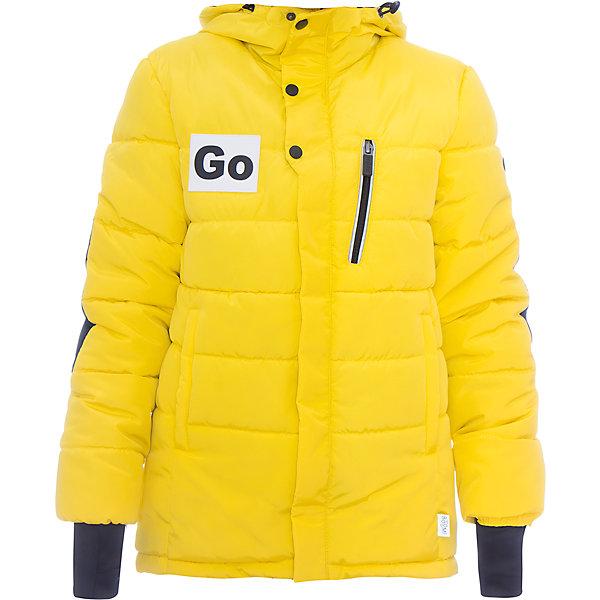 Куртка BOOM by Orby для мальчикаВерхняя одежда<br>Характеристики товара:<br><br>• цвет: желтый<br>• состав ткани: твил pu milky<br>• подкладка: хлопок, флис, полиэстер пуходержащий<br>• утеплитель: эко синтепон<br>• сезон: зима<br>• температурный режим: от 0 до -30С<br>• плотность утеплителя: 400 г/м2<br>• капюшон: без меха<br>• застежка: молния<br>• страна бренда: Россия<br>• страна изготовитель: Россия<br><br>Теплая куртка для мальчика стильно выглядит. Зимняя куртка для детей поможет обеспечить ребенку комфорт. Детская теплая куртка украшена оригинальным декором. Модная зимняя куртка создана специально для мальчиков. Плотная ткань верха и утеплитель надежно защищают от холода. <br><br>Куртку для мальчика BOOM by Orby (Бум бай Орби) можно купить в нашем интернет-магазине.<br><br>Ширина мм: 356<br>Глубина мм: 10<br>Высота мм: 245<br>Вес г: 519<br>Цвет: желтый<br>Возраст от месяцев: 168<br>Возраст до месяцев: 180<br>Пол: Мужской<br>Возраст: Детский<br>Размер: 170,140,134,128,122,116,110,104,98,164,158,152,146<br>SKU: 7090750