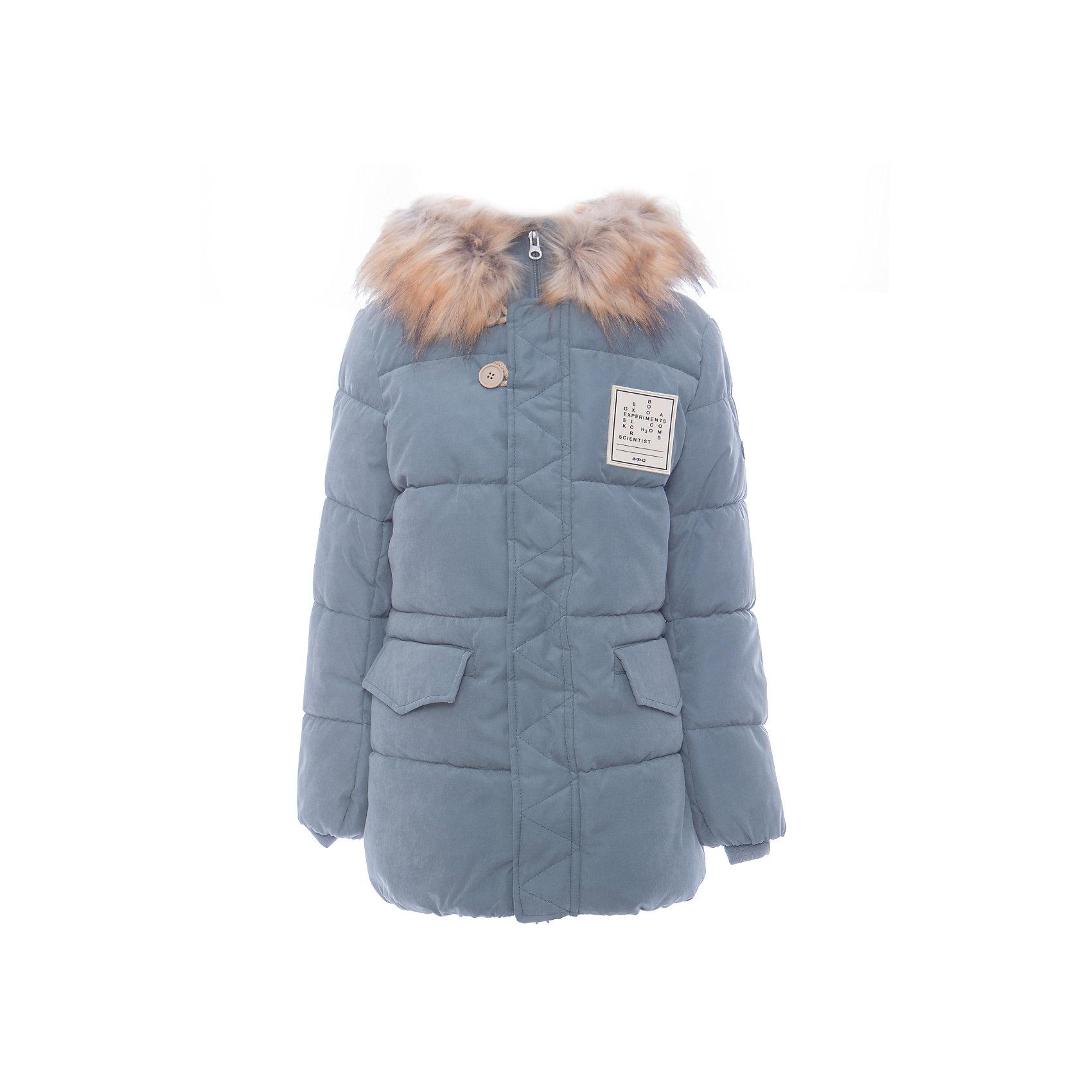 Куртка BOOM by Orby для мальчикаВерхняя одежда<br>Характеристики товара:<br><br>• цвет: серый<br>• состав ткани: оксфорд pu milky<br>• подкладка: хлопок, флис, полиэстер пуходержащий<br>• утеплитель: эко-синтепон<br>• сезон: зима<br>• температурный режим: от 0 до -30С<br>• плотность утеплителя: 400 г/м2<br>• капюшон: с мехом<br>• застежка: молния<br>• страна бренда: Россия<br>• страна изготовитель: Россия<br><br>Серая теплая куртка для мальчика поможет защитить ребенка от холода. Детская теплая куртка дополнена удобным капюшоном, планкой от ветра и карманами. Такая детская куртка отлично подойдет для зимних холодов. <br><br>Куртку для мальчика BOOM by Orby (Бум бай Орби) можно купить в нашем интернет-магазине.<br><br>Ширина мм: 356<br>Глубина мм: 10<br>Высота мм: 245<br>Вес г: 519<br>Цвет: серый<br>Возраст от месяцев: 168<br>Возраст до месяцев: 180<br>Пол: Мужской<br>Возраст: Детский<br>Размер: 170,104,98,110,116,122,128,134,140,146,152,158,164<br>SKU: 7090867