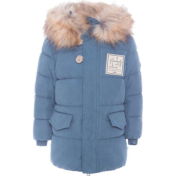 Куртка BOOM by Orby для мальчикаВерхняя одежда<br>Характеристики товара:<br><br>• цвет: синий<br>• состав ткани: оксфорд pu milky<br>• подкладка: хлопок, флис, полиэстер пуходержащий<br>• утеплитель: эко-синтепон<br>• сезон: зима<br>• температурный режим: от 0 до -30С<br>• плотность утеплителя: 400 г/м2<br>• капюшон: с мехом<br>• застежка: молния<br>• страна бренда: Россия<br>• страна изготовитель: Россия<br><br>Такая зимняя куртка для ребенка поможет обеспечить необходимый уровень комфорта в морозы. Плотная ткань и утеплитель зимней куртки защитят ребенка от холодного воздуха. Стильная теплая куртка имеет удобный капюшон с опушкой. <br><br>Куртку для мальчика BOOM by Orby (Бум бай Орби) можно купить в нашем интернет-магазине.<br>Ширина мм: 356; Глубина мм: 10; Высота мм: 245; Вес г: 519; Цвет: синий; Возраст от месяцев: 24; Возраст до месяцев: 36; Пол: Мужской; Возраст: Детский; Размер: 98,104,170,164,158,152,146,140,134,128,122,116,110; SKU: 7090881;
