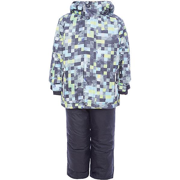 Комплект: куртка и брюки Sweet Berry для мальчикаКомплекты<br>Комплект: куртка и брюки Sweet Berry для мальчика<br>Комфортный и теплый костюм  для мальчика из мембранной ткани. В конструкции учтены физиологические особенности малыша. Съемный капюшон на молниях с дополнительной утяжкой, спереди установлены две кнопки.  Рукава с манжетами, регулируются липучкой. На куртке два кармана, застегивающиеся на молнию. Застежка-молния с внешней ветрозащитной планкой. Брюки на регулируемых подтяжках гарантируют посадку по фигуре.  Колени, задняя поверхность бедер и низ брюк дополнительно усилены сверхпрочным материалом. Силиконовые отстегивающиеся штрипки на брючинах. Ткань верха: мембрана 5000мм/5000г/м2/24h, waterproof, водонепроницаемая с грязеотталкивающей пропиткой.<br>Пoдкладка: флис<br>Утеплитель: синтетический утеплитель 220 г/м? (куртка),<br>180 г/м? (рукава, п/комбинезон). Температурный режим: от -35 до +5 С<br>Состав:<br>Верх: куртка: 100%полиэстер, брюки:  100%нейлон.  Подкладка: 100%полиэстер. Наполнитель: 100%полиэстер<br><br>Ширина мм: 356<br>Глубина мм: 10<br>Высота мм: 245<br>Вес г: 519<br>Цвет: черный<br>Возраст от месяцев: 18<br>Возраст до месяцев: 24<br>Пол: Мужской<br>Возраст: Детский<br>Размер: 92,134,128,122,116,110,104,98<br>SKU: 7093814