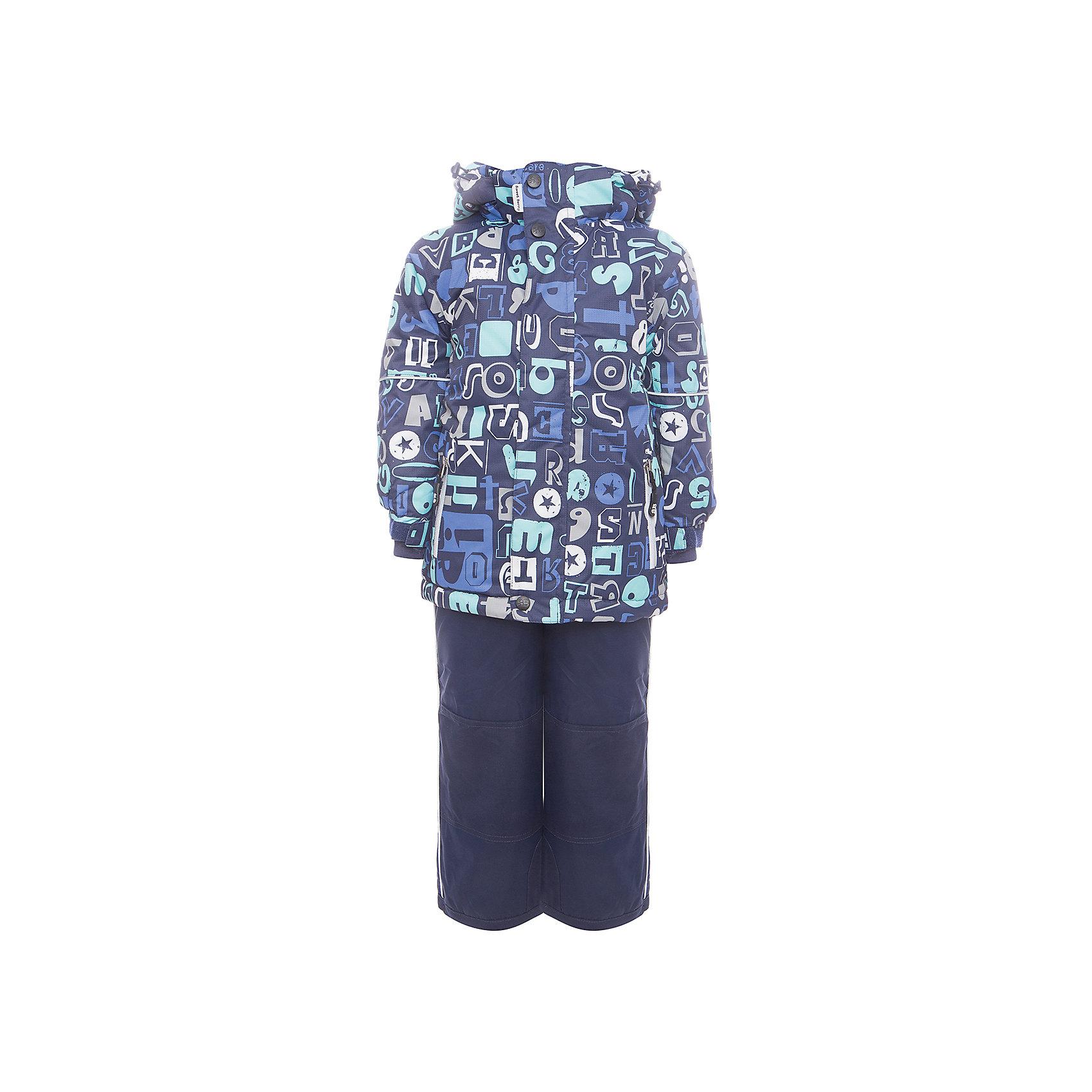 Комплект: куртка и полукомбинезон Sweet Berry для мальчикаКомплекты<br>Комплект: куртка и полукомбинезон Sweet Berry для мальчика<br>Комфортный и теплый костюм  для мальчика из мембранной ткани. В конструкции учтены физиологические особенности малыша. Съемный капюшон на молниях с дополнительной утяжкой, спереди установлены две кнопки.  Рукава с манжетами, регулируются липучкой. На куртке два кармана, застегивающиеся на молнию. Застежка-молния с внешней ветрозащитной планкой. Брюки на регулируемых подтяжках гарантируют посадку по фигуре.  Колени, задняя поверхность бедер и низ брюк дополнительно усилены сверхпрочным материалом. Силиконовые отстегивающиеся штрипки на брючинах. Ткань верха: мембрана 5000мм/5000г/м2/24h, waterproof, водонепроницаемая с грязеотталкивающей пропиткой.<br>Пoдкладка: флис<br>Утеплитель: синтетический утеплитель 220 г/м? (куртка),<br>180 г/м? (рукава, п/комбинезон). Температурный режим: от -35 до +5 С<br>Состав:<br>Верх: куртка: 100%полиэстер, полукомбинезон:  100%нейлон.  Подкладка: 100%полиэстер. Наполнитель: 100%полиэстер<br><br>Ширина мм: 356<br>Глубина мм: 10<br>Высота мм: 245<br>Вес г: 519<br>Цвет: синий<br>Возраст от месяцев: 96<br>Возраст до месяцев: 108<br>Пол: Мужской<br>Возраст: Детский<br>Размер: 134,104,92,98,110,116,122,128<br>SKU: 7093823