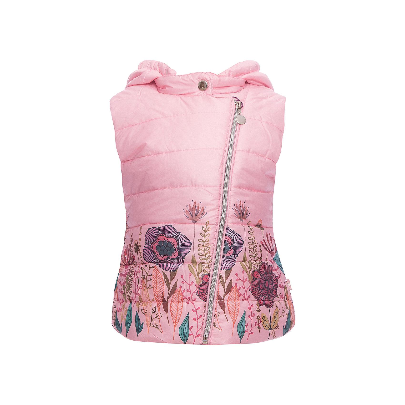 Жилет Sweet Berry для девочкиВерхняя одежда<br>Жилет Sweet Berry для девочки<br>Утепленный стеганный жилет для девочки со съемным капюшоном. Подкладка выполнена из искусственного меха. Низ изделия декорирован цветочным принтом. Застегивается на молнию.<br>Состав:<br>Верх: 100% полиэстер Подкладка: 100% полиэстер Наполнитель: 100% полиэстер<br><br>Ширина мм: 190<br>Глубина мм: 74<br>Высота мм: 229<br>Вес г: 236<br>Цвет: розовый<br>Возраст от месяцев: 84<br>Возраст до месяцев: 96<br>Пол: Женский<br>Возраст: Детский<br>Размер: 128,98,104,110,116,122<br>SKU: 7093908