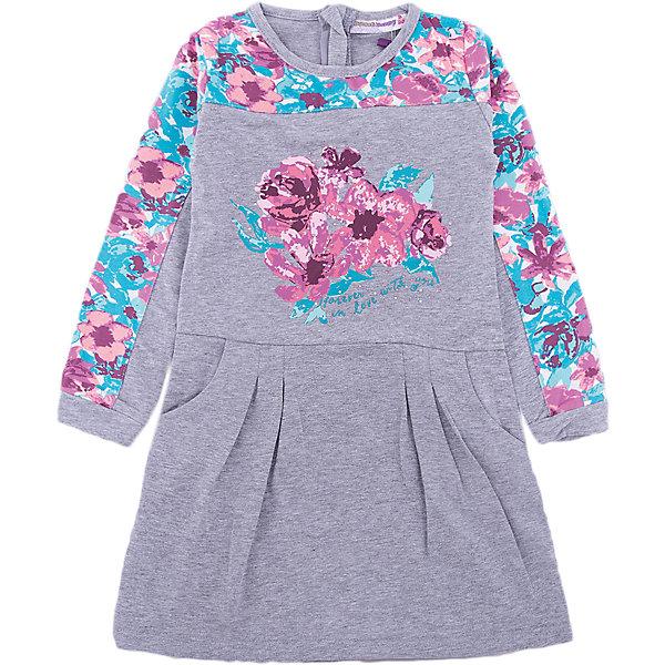 Платье Sweet Berry для девочкиПлатья и сарафаны<br>Платье Sweet Berry для девочки<br>Стильное трикотажное платье с длинным рукавом для девочки из хлопкового полотна декорированное цветочным принтом. Застегивается на потайную молнию.<br>Состав:<br>95% хлопок, 5% эластан<br><br>Ширина мм: 236<br>Глубина мм: 16<br>Высота мм: 184<br>Вес г: 177<br>Цвет: серый<br>Возраст от месяцев: 84<br>Возраст до месяцев: 96<br>Пол: Женский<br>Возраст: Детский<br>Размер: 128,122,116,110,104,98<br>SKU: 7093971
