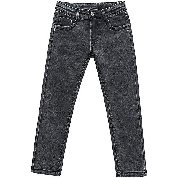 Брюки Sweet Berry для девочкиДжинсовая одежда<br>Брюки Sweet Berry для девочки<br>Модные джинсовые брюки для девочки темно-серого цвета с оригинальной варкой. Зауженный крой, средняя посадка. Застегиваются на молнию и крючок. Шлевки на поясе рассчитаны под ремень. В боковой части пояса находятся вшитые эластичные ленты, регулирующие посадку по талии.<br>Состав:<br>98% хлопок, 2% спандекс<br><br>Ширина мм: 215<br>Глубина мм: 88<br>Высота мм: 191<br>Вес г: 336<br>Цвет: серый<br>Возраст от месяцев: 24<br>Возраст до месяцев: 36<br>Пол: Женский<br>Возраст: Детский<br>Размер: 98,128,122,116,110,104<br>SKU: 7093999