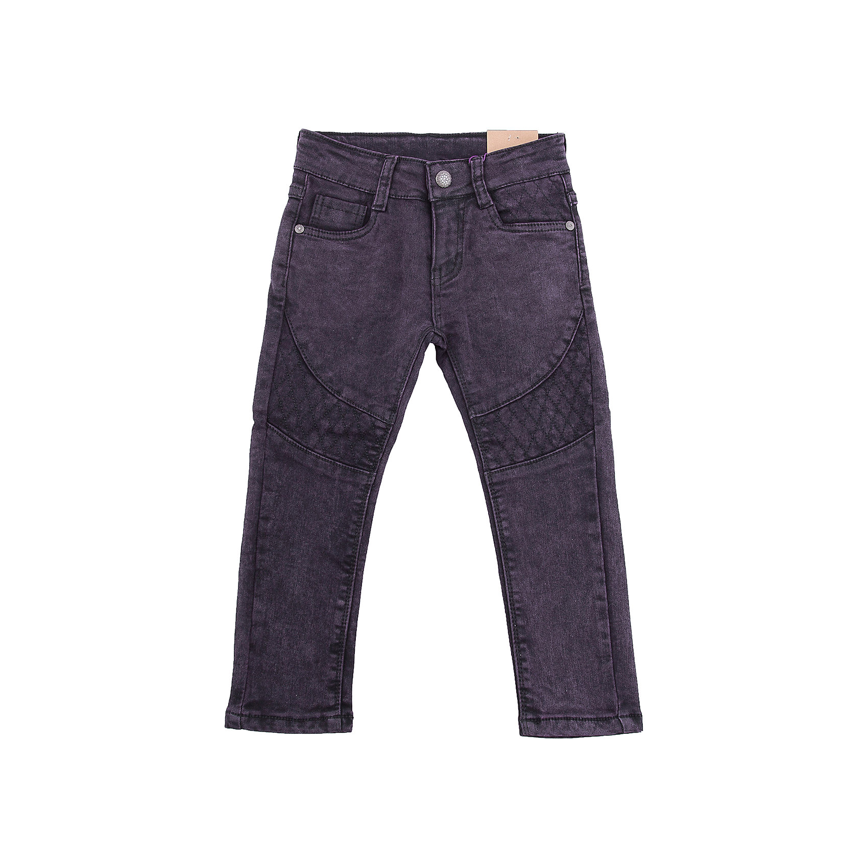 Брюки Sweet Berry для девочкиБрюки<br>Брюки Sweet Berry для девочки<br>Ультрамодные джинсовые брюки для девочки темно-фиолетового цвета с оригинальной варкой и вышивкой. Зауженный крой, средняя посадка. Застегиваются на молнию и крючок. Шлевки на поясе рассчитаны под ремень. В боковой части пояса находятся вшитые эластичные ленты, регулирующие посадку по талии.<br>Состав:<br>98% хлопок, 2% спандекс<br><br>Ширина мм: 215<br>Глубина мм: 88<br>Высота мм: 191<br>Вес г: 336<br>Цвет: лиловый<br>Возраст от месяцев: 84<br>Возраст до месяцев: 96<br>Пол: Женский<br>Возраст: Детский<br>Размер: 128,98,104,110,116,122<br>SKU: 7094006