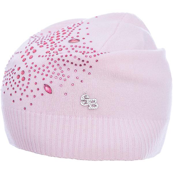 Шапка Sweet Berry для девочкиГоловные уборы<br>Характеристики товара:<br><br>• цвет: розовый<br>• состав материала: 100% хлопок<br>• сезон: демисезон<br>• стразы<br>• страна бренда: Россия<br>• страна производства: Китай<br><br>Розовая шапка для девочки плотно держится на голове благодаря мягкой резинке. Эта детская шапка декорирована стразами. Шапка для детей от Sweet Berry - модная и удобная вещь для прохладной погоды. <br><br>Шапку Sweet Berry (Свит Берри) для девочки можно купить в нашем интернет-магазине.<br>Ширина мм: 89; Глубина мм: 117; Высота мм: 44; Вес г: 155; Цвет: розовый; Возраст от месяцев: 24; Возраст до месяцев: 36; Пол: Женский; Возраст: Детский; Размер: 50,54,52; SKU: 7094027;