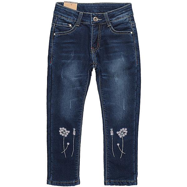 Брюки Sweet Berry для девочкиДжинсовая одежда<br>Брюки Sweet Berry для девочки<br>Утепленные джинсовый брюки для девочки на флисовой подкладке с оригинальной варкой декорированные цветочной вышивкой. Зауженный крой, средняя посадка. Застегиваются на молнию и пуговицу. Шлевки на поясе рассчитаны под ремень. В боковой части пояса находятся вшитые эластичные ленты, регулирующие посадку по талии.<br>Состав:<br>Основная ткань: 97% хлопок, 3% спандекс Подкладка: 100% полиэстер<br><br>Ширина мм: 215<br>Глубина мм: 88<br>Высота мм: 191<br>Вес г: 336<br>Цвет: синий<br>Возраст от месяцев: 24<br>Возраст до месяцев: 36<br>Пол: Женский<br>Возраст: Детский<br>Размер: 98,104,110,116,122,128<br>SKU: 7094031