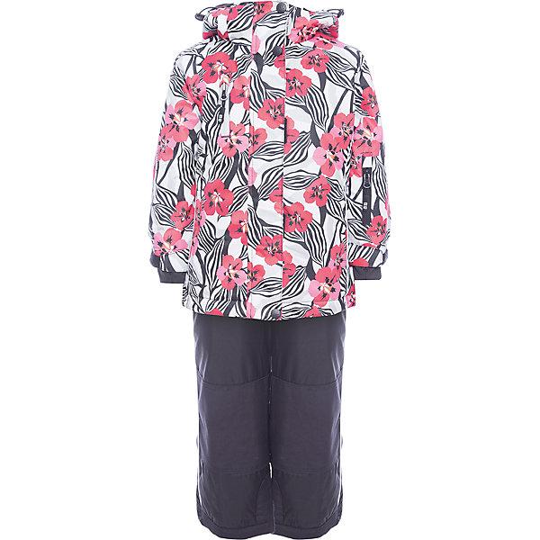Комплект: куртка и полукомбинезон Sweet Berry для девочкиВерхняя одежда<br>Комплект: куртка и полукомбинезон Sweet Berry для девочки<br>Комфортный и теплый костюм  для девочки из мембранной ткани. В конструкции учтены физиологические особенности малыша. Съемный капюшон на молниях с дополнительной утяжкой, спереди установлены две кнопки.  Рукава с манжетами, регулируются липучкой. На куртке два кармана, застегивающиеся на молнию. Застежка-молния с внешней ветрозащитной планкой. Брюки на регулируемых подтяжках гарантируют посадку по фигуре.  Колени, задняя поверхность бедер и низ брюк дополнительно усилены сверхпрочным материалом. Силиконовые отстегивающиеся штрипки на брючинах. Ткань верха: мембрана 5000мм/5000г/м2/24h, waterproof, водонепроницаемая с грязеотталкивающей пропиткой.<br>Пoдкладка: флис<br>Утеплитель: синтетический утеплитель 220 г/м? (куртка),<br>180 г/м? (рукава, п/комбинезон). Температурный режим: от -35 до +5 С<br>Состав:<br>Верх: куртка: 100%полиэстер, полукомбинезон:  100%нейлон.  Подкладка: 100%полиэстер. Наполнитель: 100%полиэстер<br><br>Ширина мм: 356<br>Глубина мм: 10<br>Высота мм: 245<br>Вес г: 519<br>Цвет: черный<br>Возраст от месяцев: 18<br>Возраст до месяцев: 24<br>Пол: Женский<br>Возраст: Детский<br>Размер: 92,134,128,122,116,110,104,98<br>SKU: 7094125