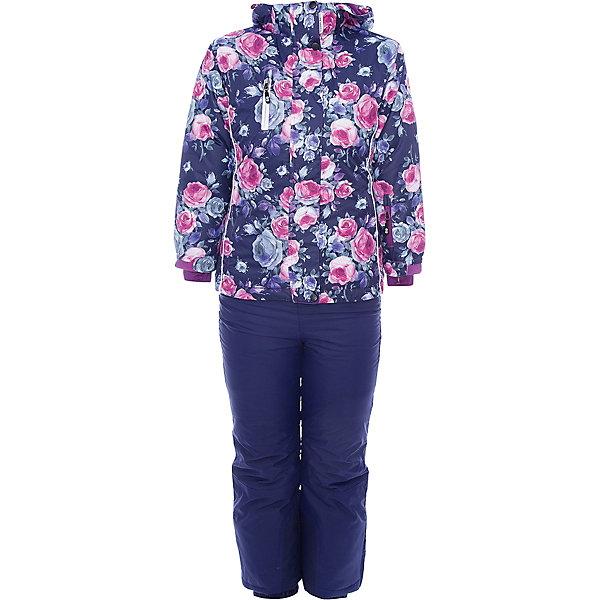 Комплект: куртка и брюки Sweet Berry для девочкиВерхняя одежда<br>Комплект: куртка и брюки Sweet Berry для девочки<br>Комфортный и теплый костюм  для девочки из мембранной ткани. В конструкции учтены физиологические особенности малыша. Съемный капюшон на молниях с дополнительной утяжкой, спереди установлены две кнопки.  Рукава с манжетами, регулируются липучкой. На куртке два кармана, застегивающиеся на молнию. Застежка-молния с внешней ветрозащитной планкой. Брюки на регулируемых подтяжках гарантируют посадку по фигуре.  Колени, задняя поверхность бедер и низ брюк дополнительно усилены сверхпрочным материалом. Силиконовые отстегивающиеся штрипки на брючинах. Ткань верха: мембрана 5000мм/5000г/м2/24h, waterproof, водонепроницаемая с грязеотталкивающей пропиткой.<br>Пoдкладка: флис<br>Утеплитель: синтетический утеплитель 220 г/м? (куртка),<br>180 г/м? (рукава, п/комбинезон). Температурный режим: от -35 до +5 С<br>Состав:<br>Верх: куртка: 100%полиэстер, брюки:  100%нейлон.  Подкладка: 100%полиэстер. Наполнитель: 100%полиэстер<br><br>Ширина мм: 356<br>Глубина мм: 10<br>Высота мм: 245<br>Вес г: 519<br>Цвет: синий<br>Возраст от месяцев: 96<br>Возраст до месяцев: 108<br>Пол: Женский<br>Возраст: Детский<br>Размер: 134,92,98,104,110,116,122,128<br>SKU: 7094134