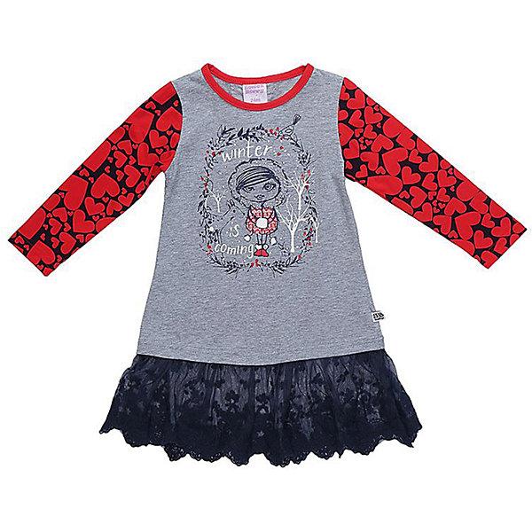 Платье Sweet Berry для девочкиПлатья и сарафаны<br>Характеристики товара:<br><br>• цвет: серый;<br>• состав материала: 95% хлопок, 5% эластан;<br>• сезон: демисезон;<br>• застежка: пуговка на спинке;<br>• с длинным рукавом;<br>• декорировано принтом;<br>• страна бренда: Россия<br>• страна производства: Китай<br><br>Платье для девочки из мягкого трикотажного полотна декорированное оригинальным принтом и фатиновым воланом по низу изделия. Застежка на пуговке на спинке.<br><br>Платье Sweet Berry (Свит Берри) для девочки можно купить в нашем интернет-магазине.<br>Ширина мм: 236; Глубина мм: 16; Высота мм: 184; Вес г: 177; Цвет: серый; Возраст от месяцев: 12; Возраст до месяцев: 15; Пол: Женский; Возраст: Детский; Размер: 80,98,86,92; SKU: 7094308;