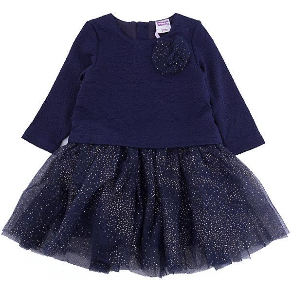 Платье Sweet Berry для девочкиПлатья<br>Платье Sweet Berry для девочки<br>Стильное платье для девочки с округлым вырезом, длинным рукавом декорированное цветком и фатиновой юбочкой с блестками. Хлопковая подкладка. Застежка на спинке на кнопках.<br>Состав:<br>Основная ткань: 100% полиэстер Подкладка: 100% хлопок<br><br>Ширина мм: 236<br>Глубина мм: 16<br>Высота мм: 184<br>Вес г: 177<br>Цвет: синий<br>Возраст от месяцев: 12<br>Возраст до месяцев: 15<br>Пол: Женский<br>Возраст: Детский<br>Размер: 80,98,92,86<br>SKU: 7094353